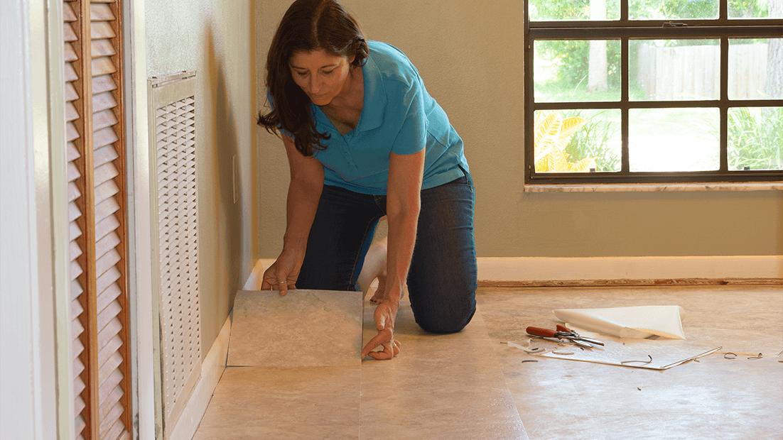 Installing Peel & Stick Flooring