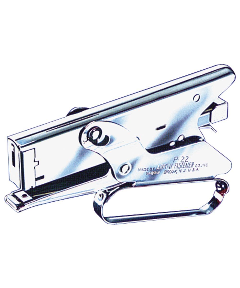 Heavy Duty Gun Plier Stapler, 1/4 in., 5/16 in. (L) Leg, 2-1/2 in. (D) Throat, 4-1/2 in. (H)