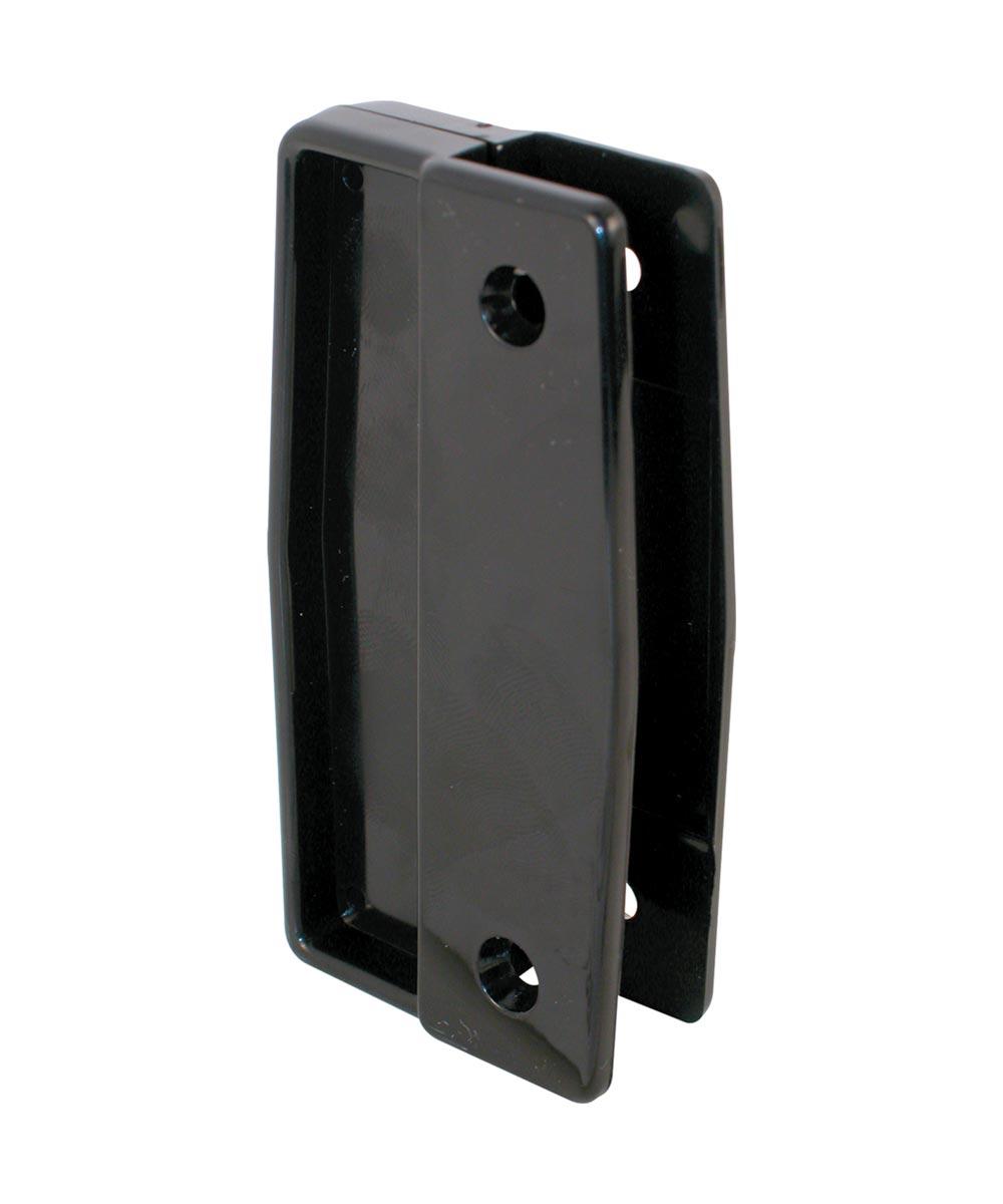 A 111 Sliding Screen Door Universal Handles, Black Plastic, Surface Mounted, 2 Pack