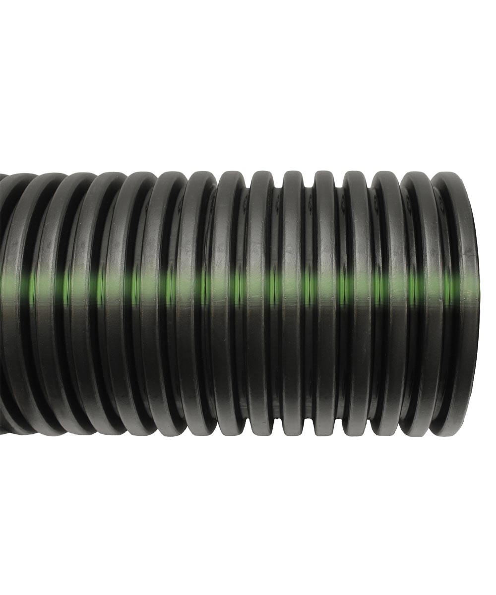Heavy Duty Perforated Solid Single Wall Pipe 10 ft., HDPE