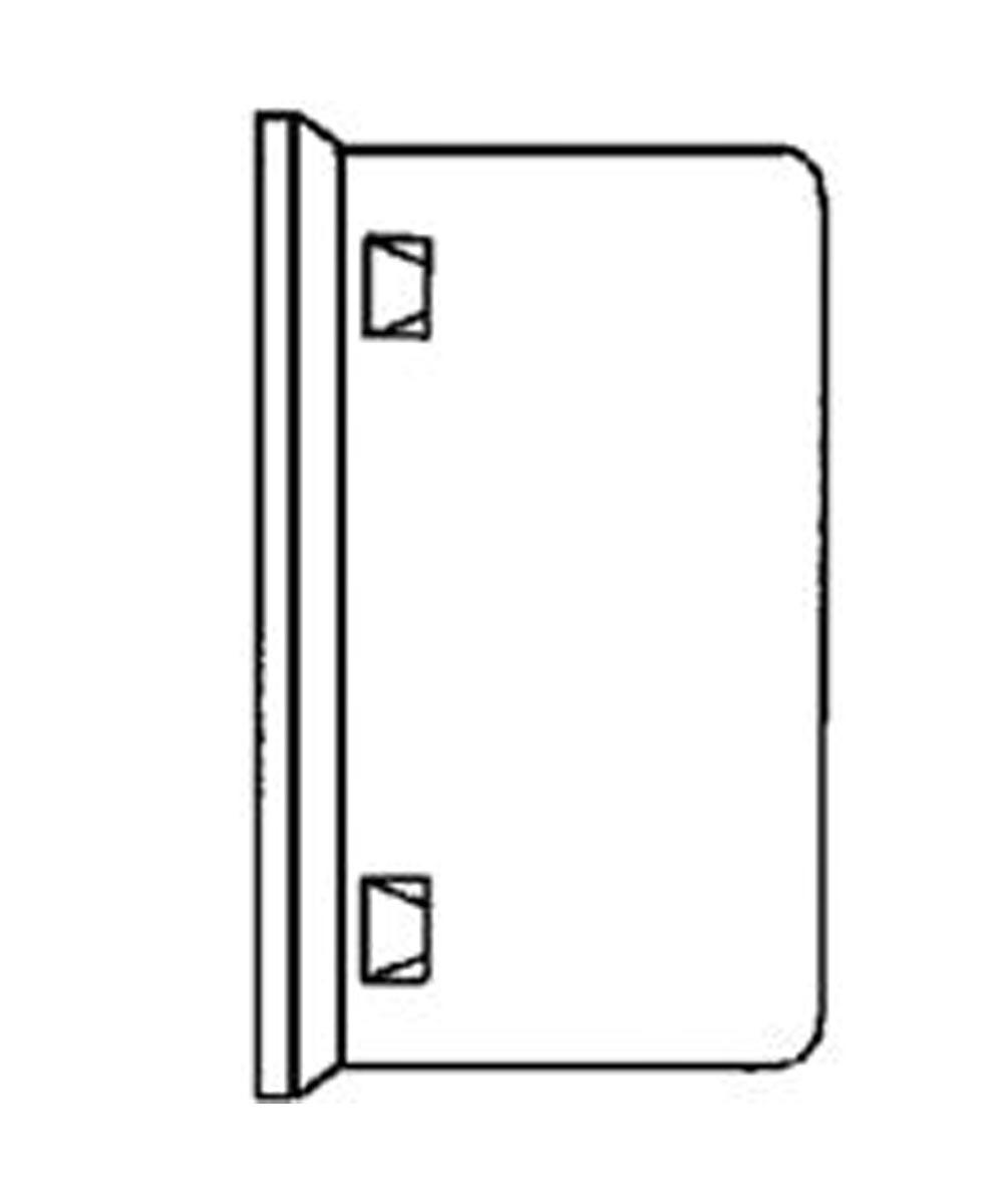 External Single Wall Drain End Cap 3 in. (W), Polyethylene