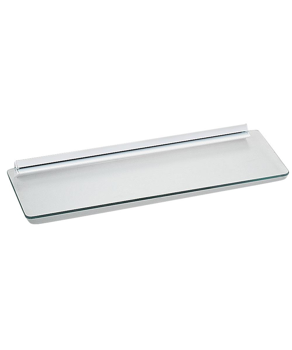 1-Piece Decorative Straight Shelf Kit, 24 in. (L) x 8 in. (W), Tempered Glass