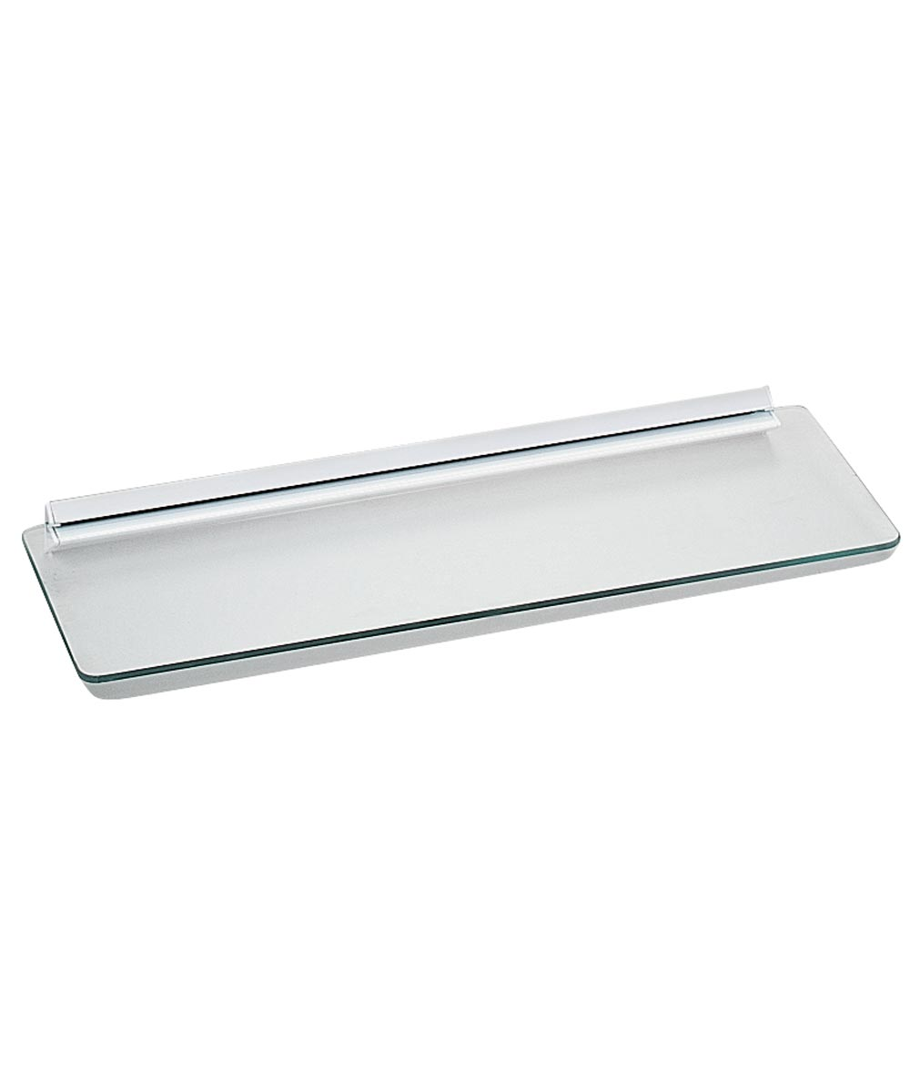 1-Piece Decorative Straight Shelf Kit, 18 in. (L) x 6 in. (W), Tempered Glass