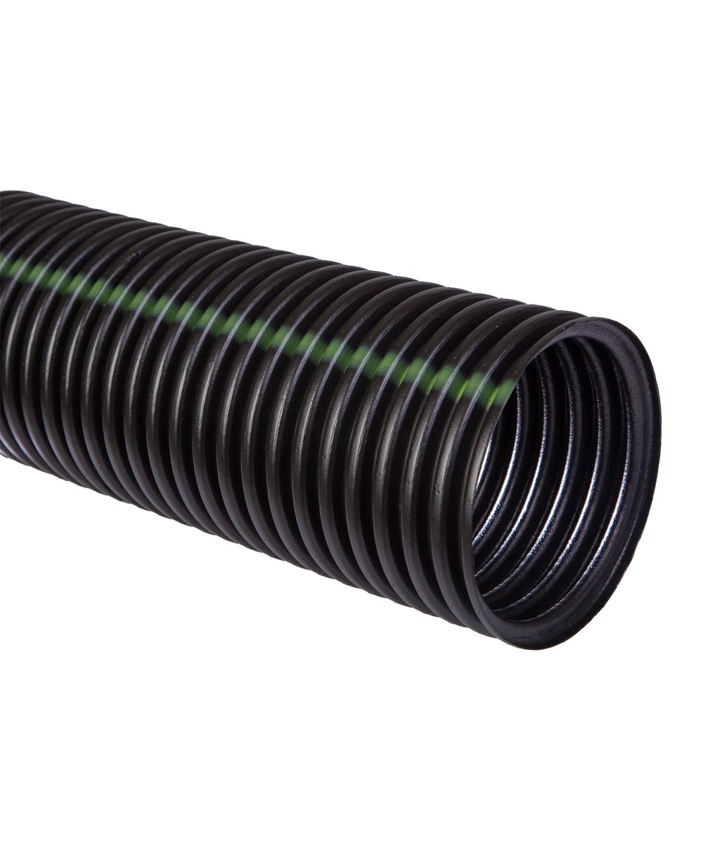 Regular Solid Single Wall Pipe 10 ft., HDPE