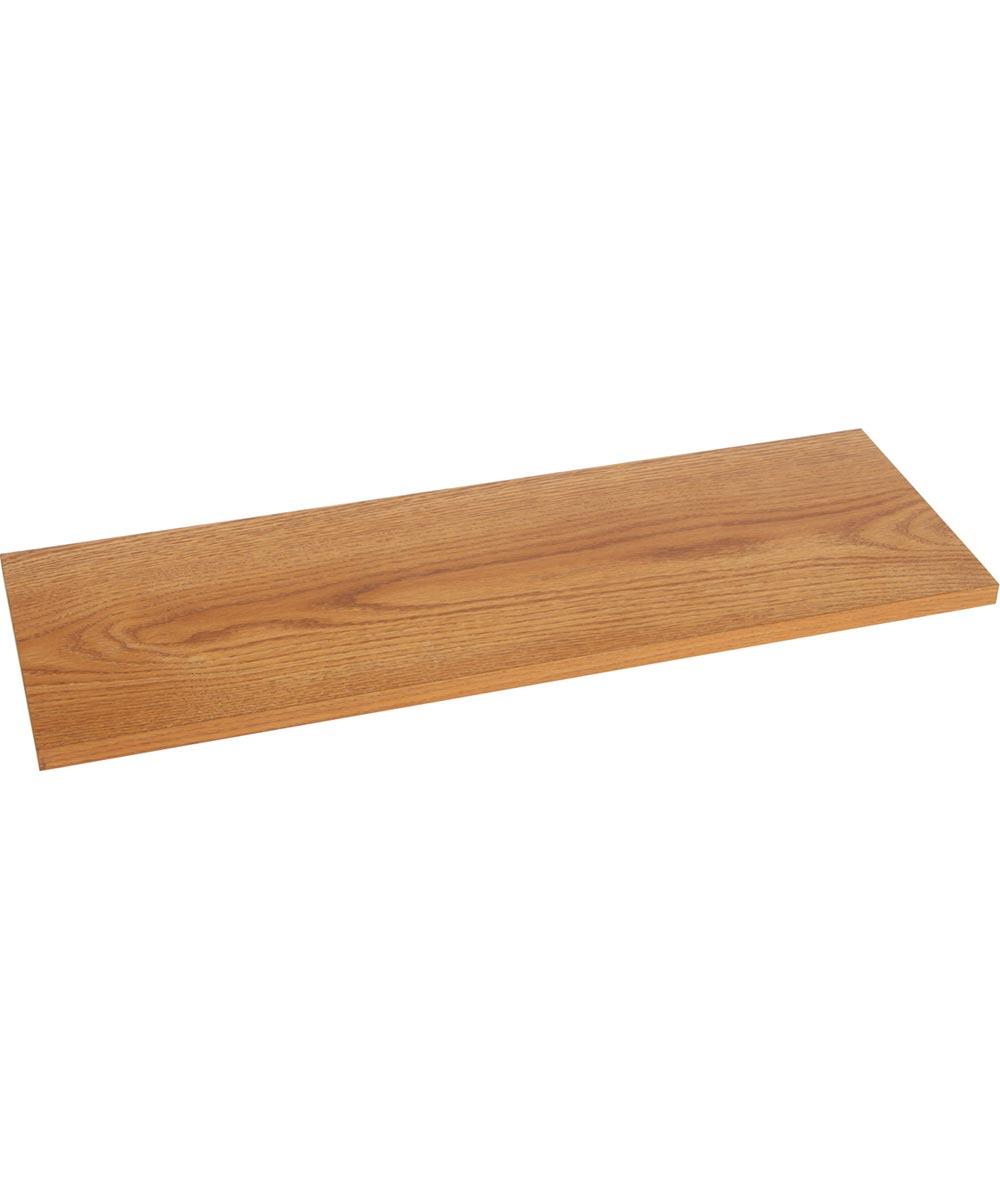 Decorative Regular Duty Prefinished Shelf Board, 24 in. (L) x 10 in. x W 5/8 in. (T), Oak