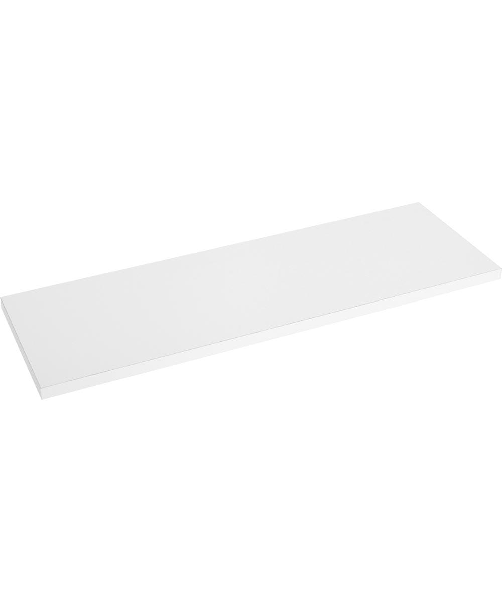 Decorative Regular Duty Prefinished Shelf Board, 48 in. (L) x 8 in. (W) x 5/8 in. (T), White