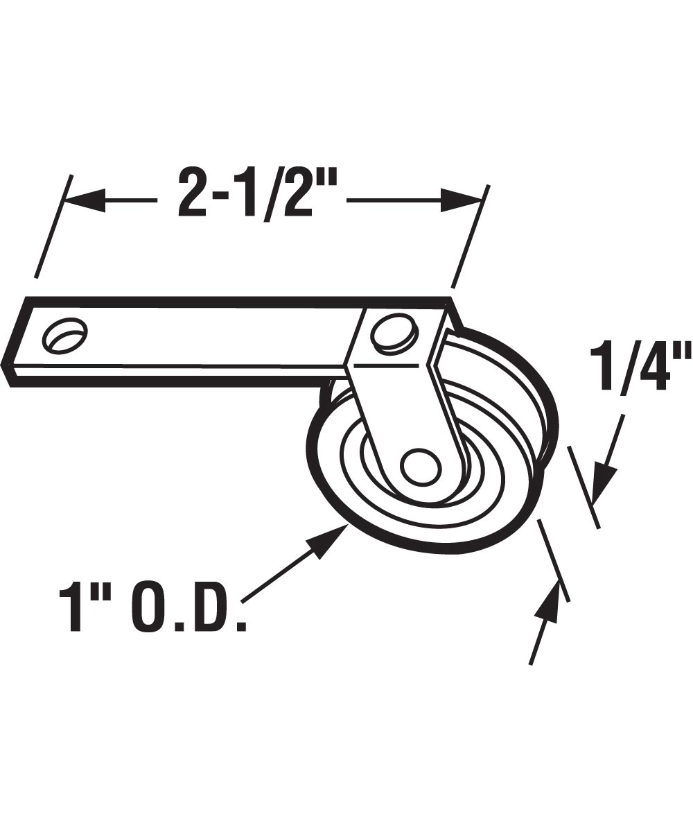 B 521 Screen Door 2-1/2 in. Flat Tension Spring, 1 in. High Density Polyethlene Roller, 2 Pack