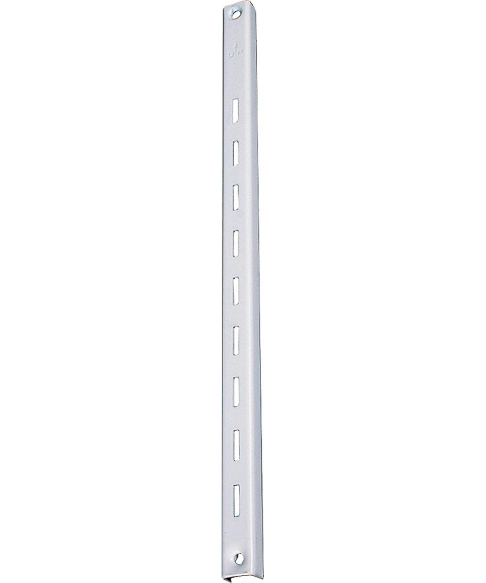 Regular Duty Shelf Standard, 48 in. (L) x 5/8 in. (W), Cold Rolled Steel/Spring Steel, White