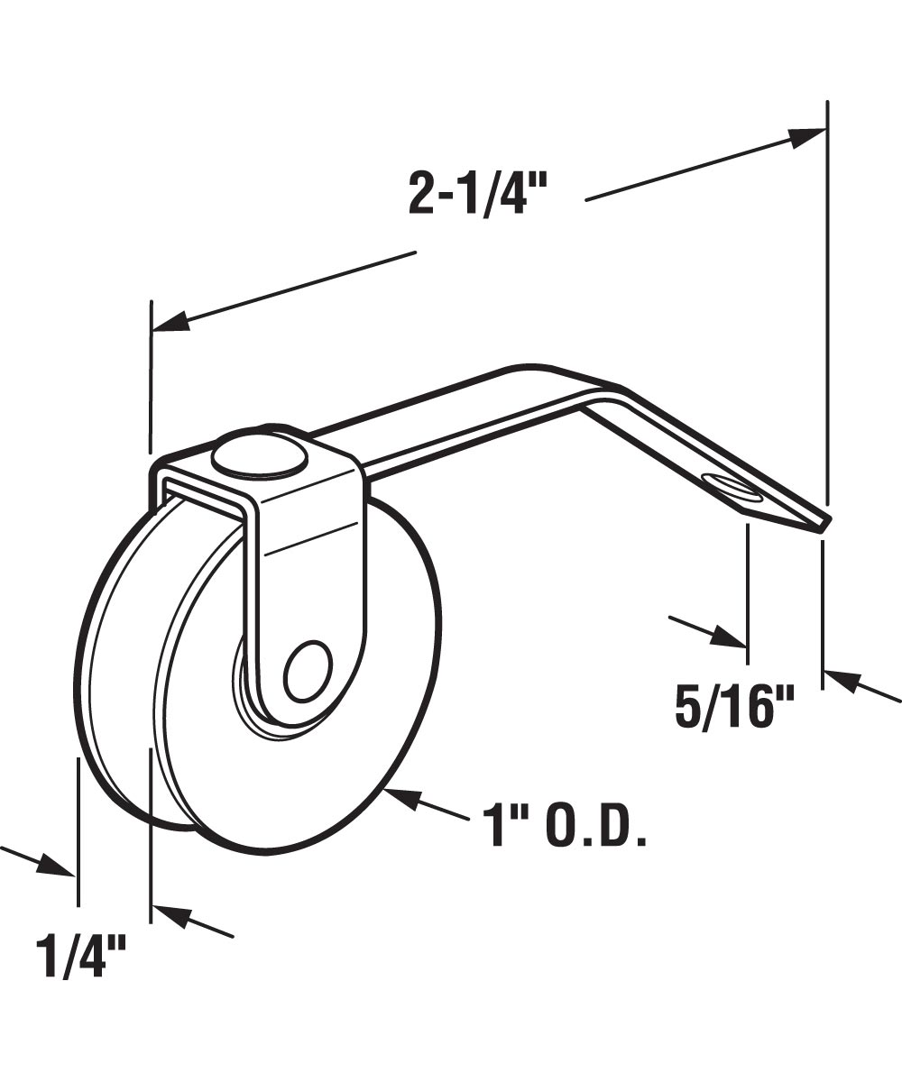 B 609 Screen Door 2-1/4 in. Flat Tension Offset Spring, 1 in. High Density Polyethlene Roller, 2 Pack