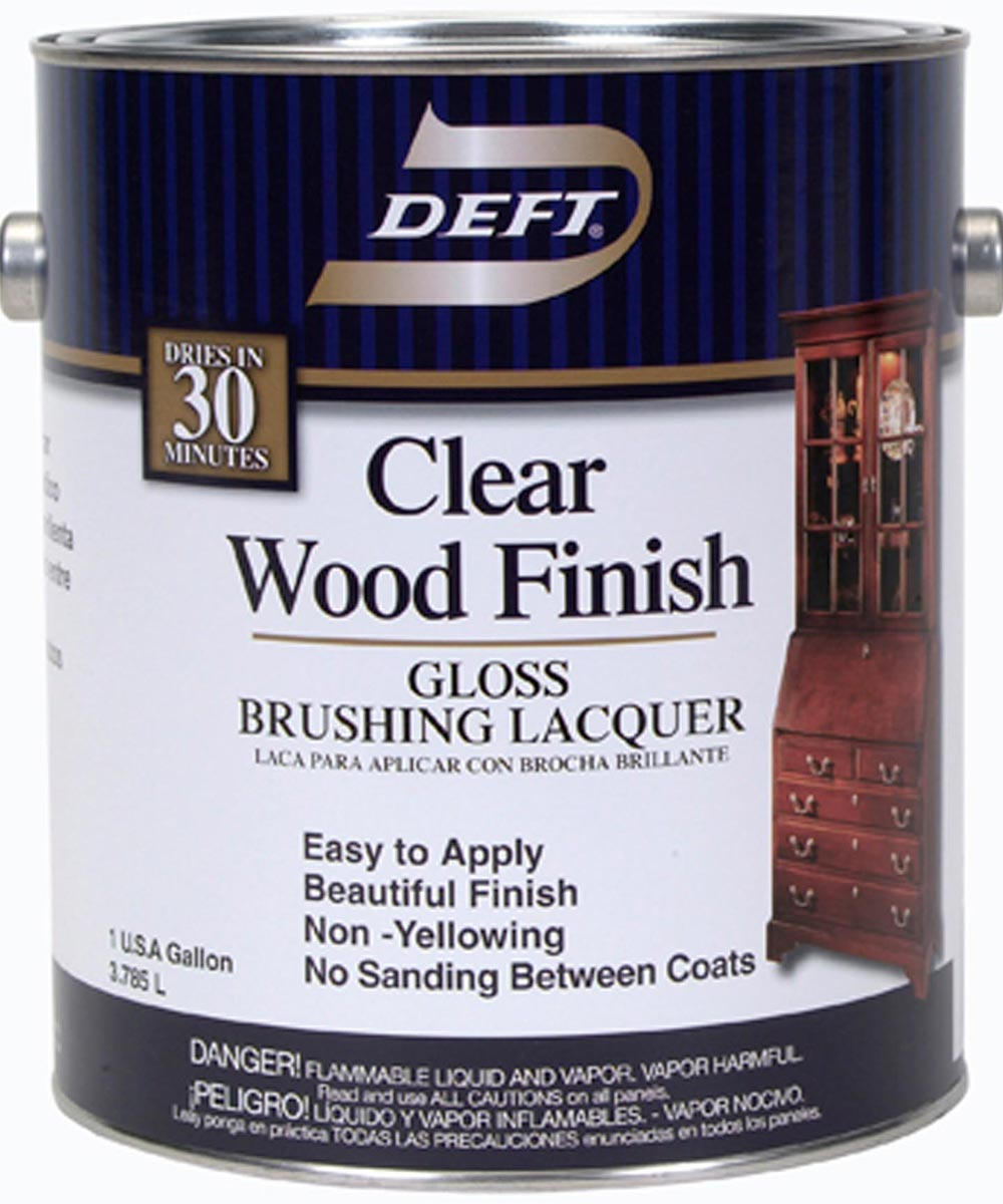 1 Gallon Gloss Clear Wood Finish Brushing Lacquer
