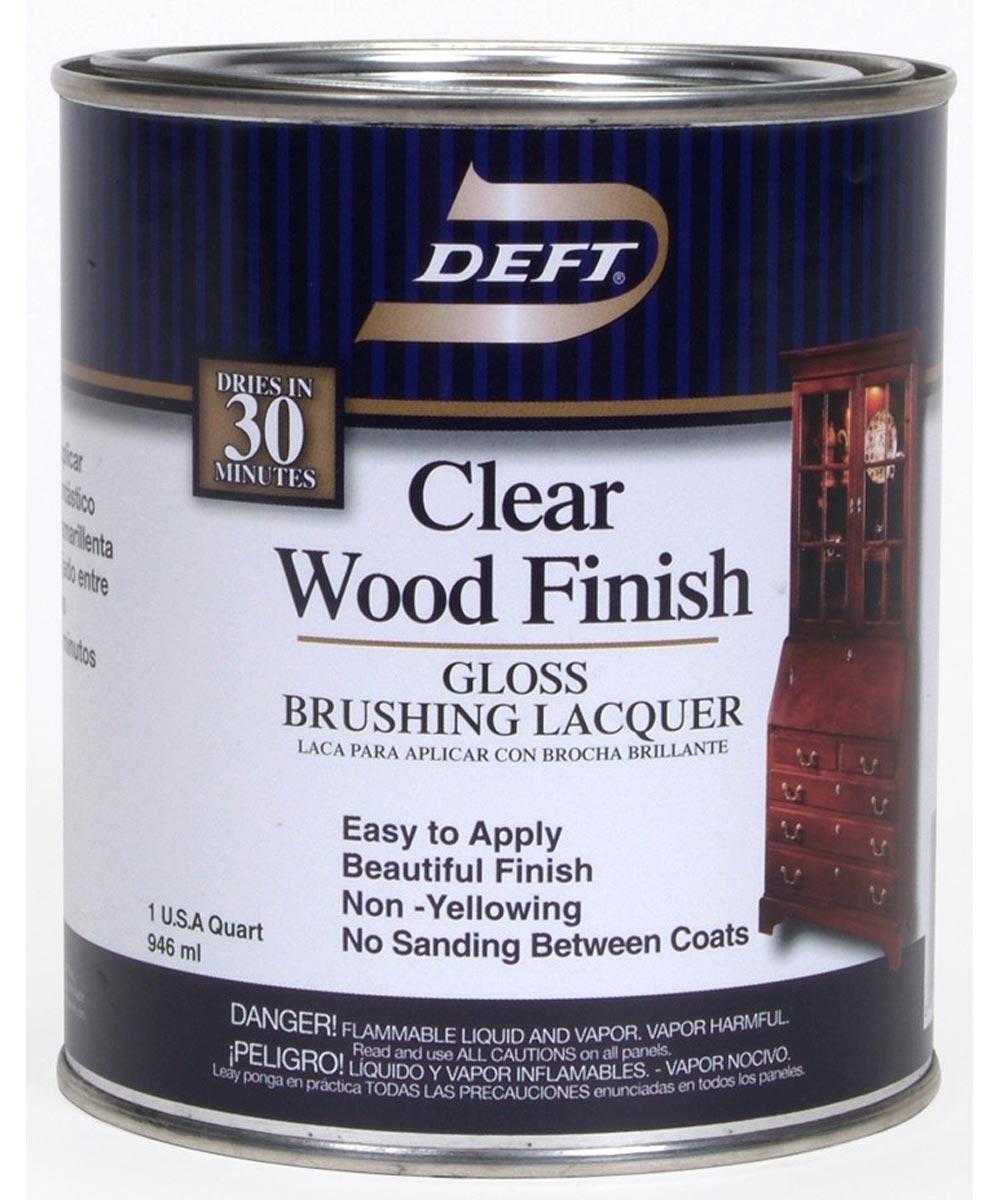 1 Quart Gloss Clear Wood Finish Brushing Lacquer