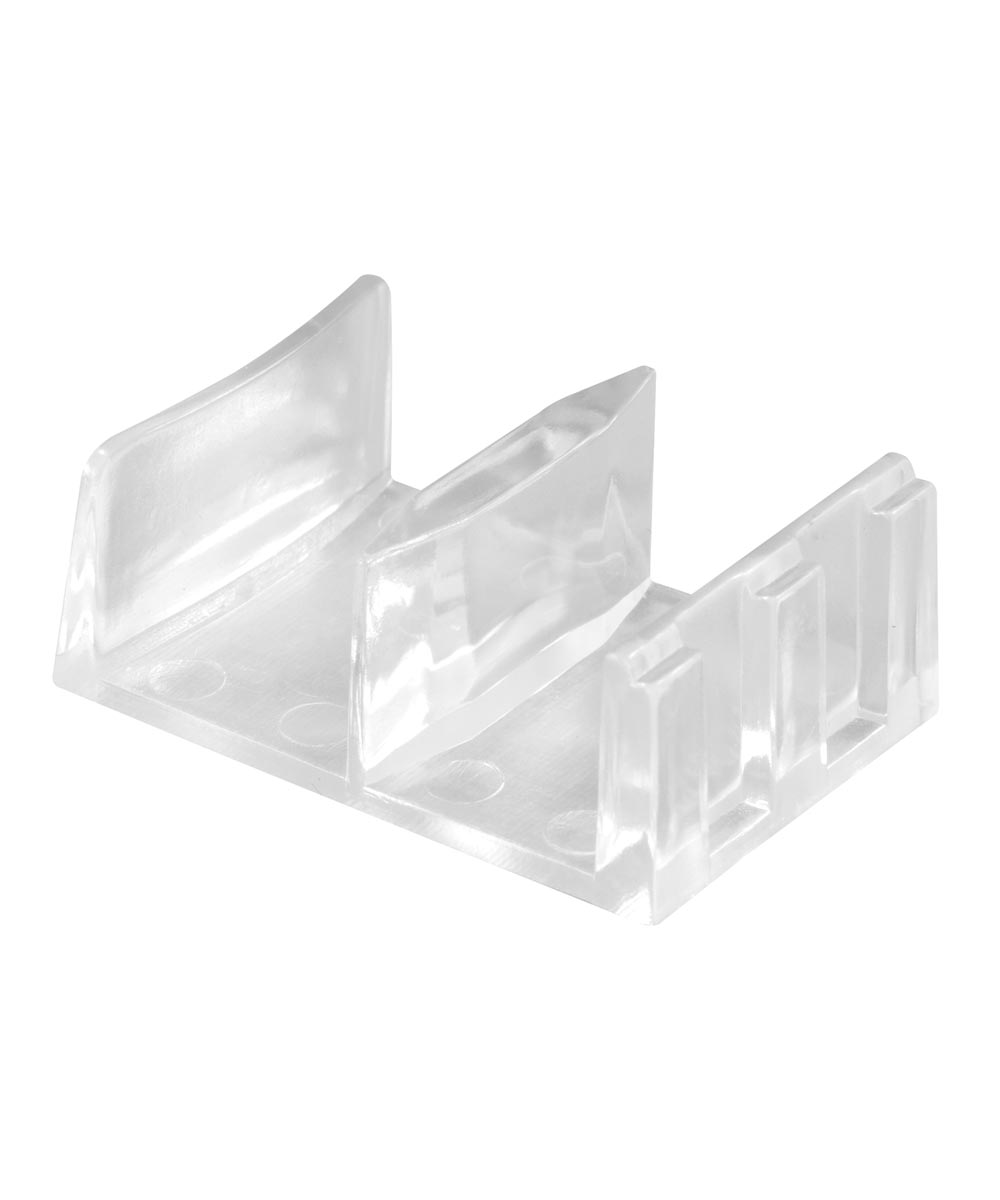 Tub & Shower Enclosure Bottom Guide, Snap-In Design, Clear Plastic, Pack of 2