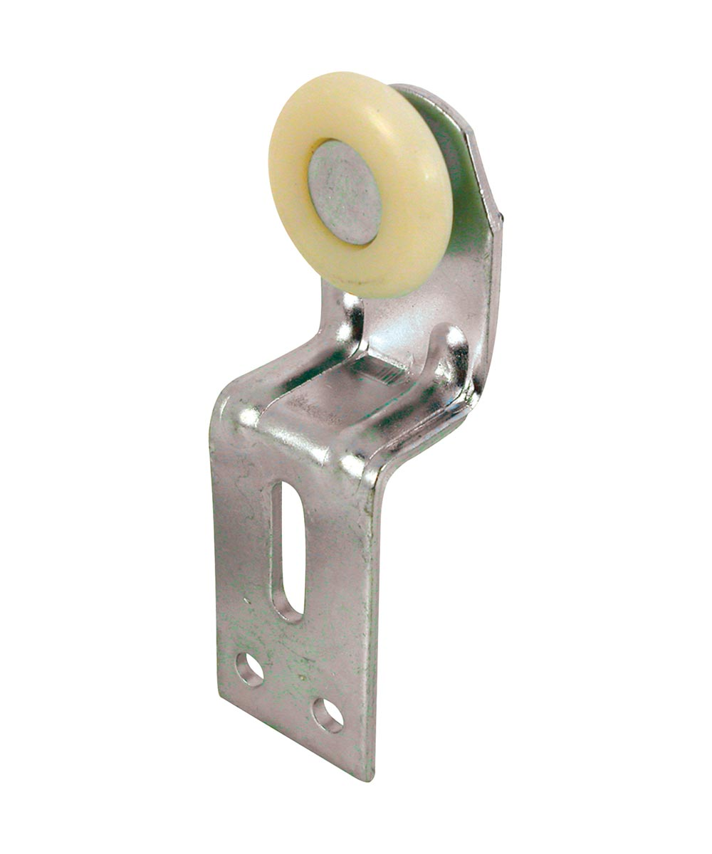 Wardrobe Door Back Roller Assembly, 1 inch, Convex Nylon Roller, Pack of 2