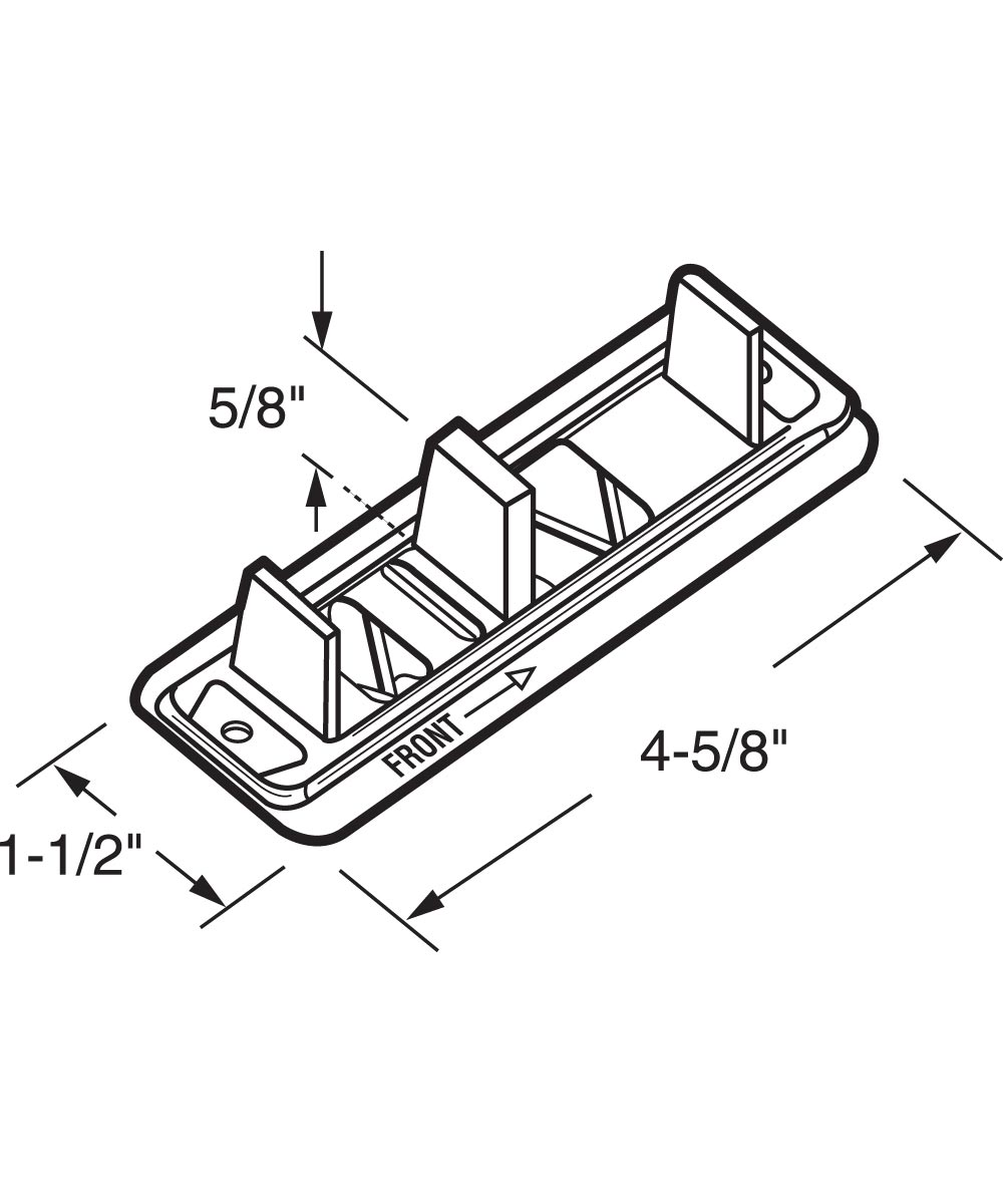 Sliding Closet Door Floor Guide, Adjustable, Stamped Steel, Nylon, 2 per package