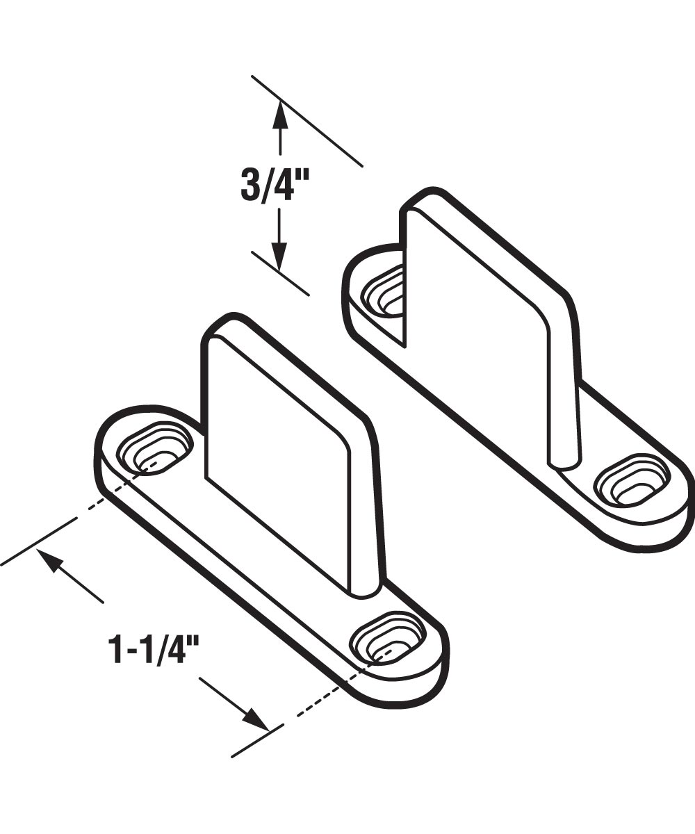 Sliding Closet Door Floor Guides, Any Size Door, 3/4 inches Tall, 1 per package