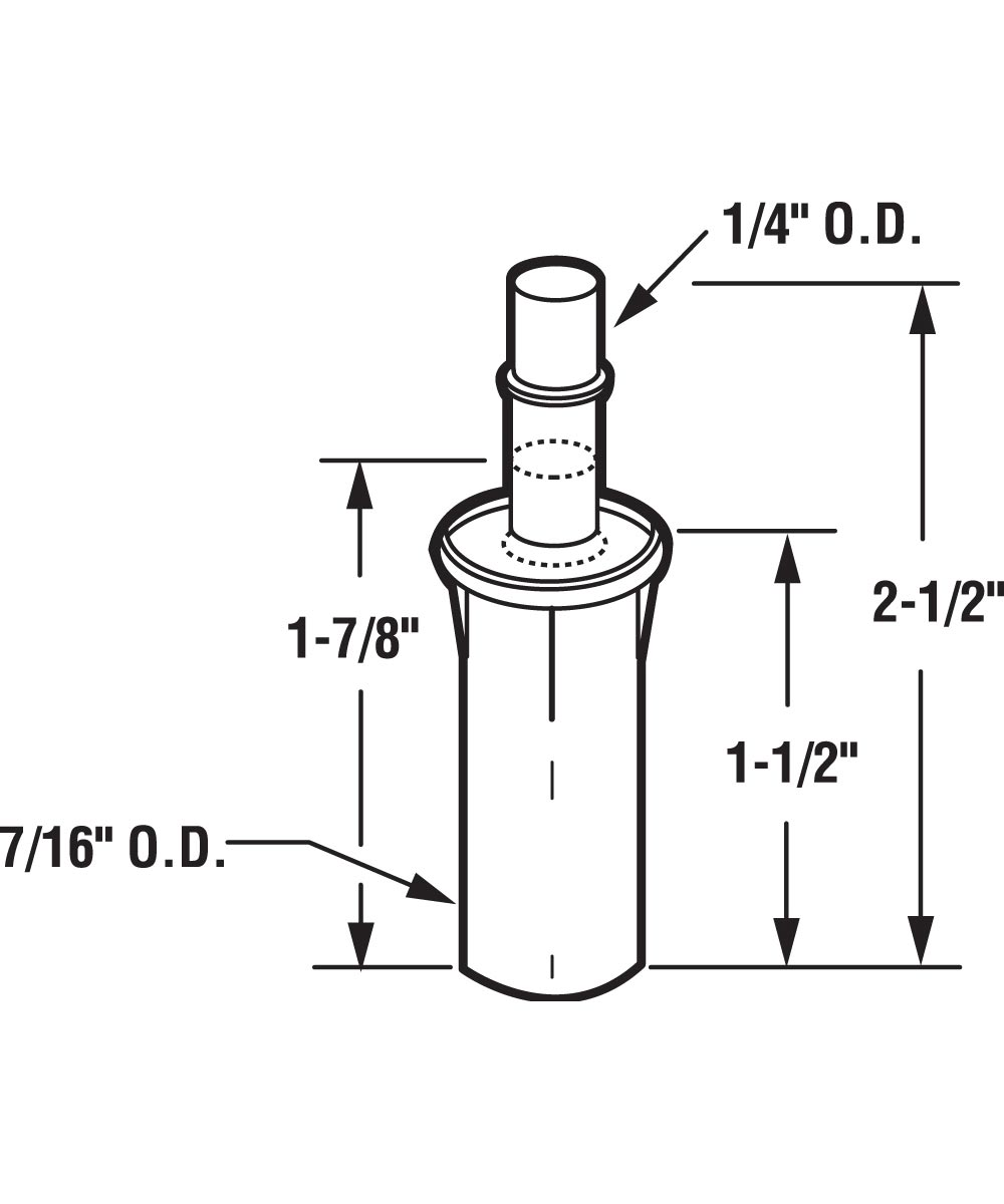 Bi-Fold Top Mount Pivot, 1/4 inch Steel Pivot, 7/16 inch Base, 2 per package