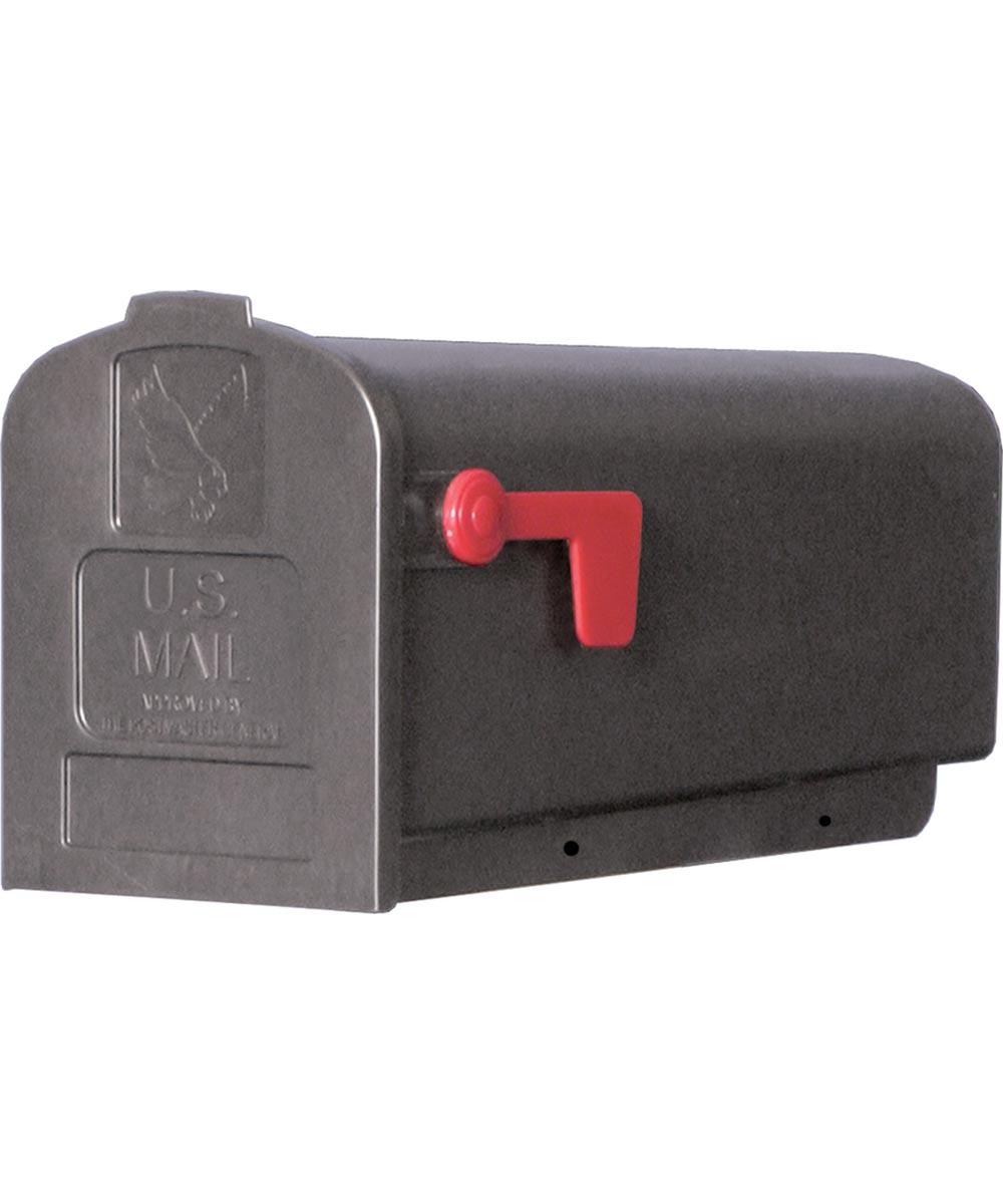 Plastic Rural Black Mailbox