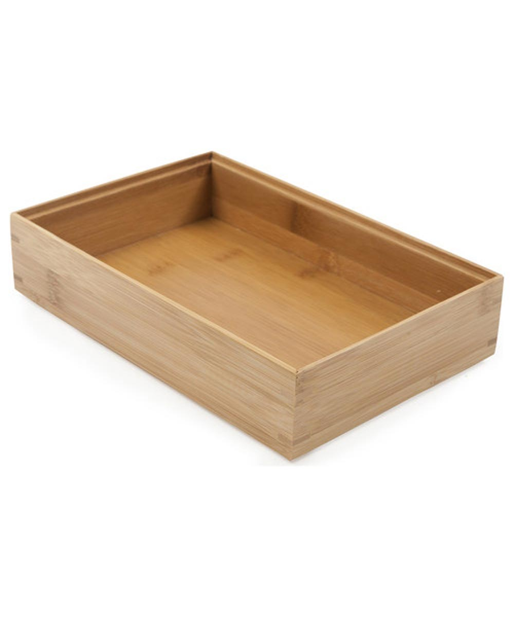 6 in. x 9 in. Core Bamboo Storage Organizer Box