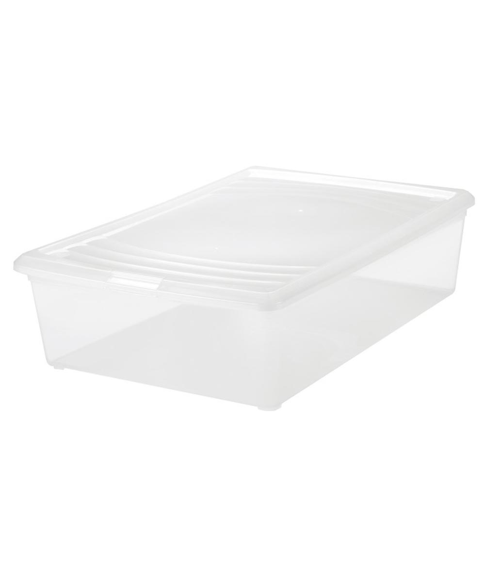 Large Modular Storage Box (Boot Box), Clear, 33 Quarts / 8.25 Gallons