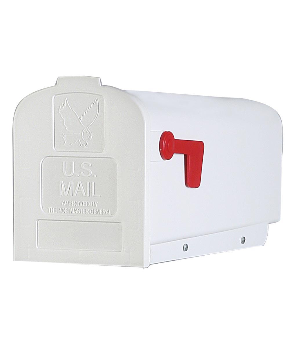 Plastic Rural White Mailbox