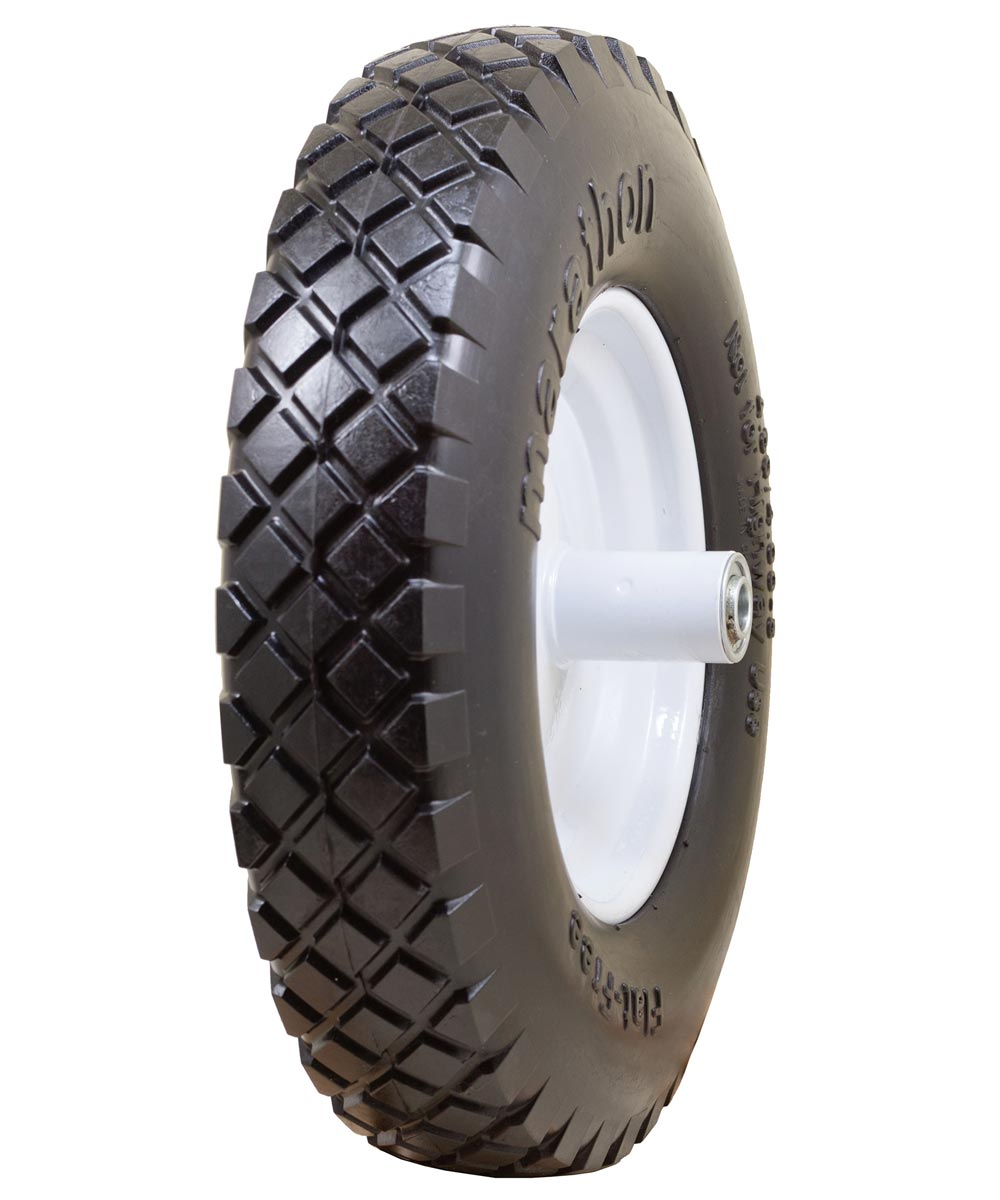16 in. Knobby Flat Free Wheelbarrow Tire