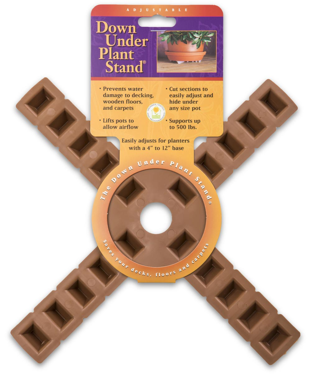 12 in. Terra Cotta 4-Arm Plant Stand