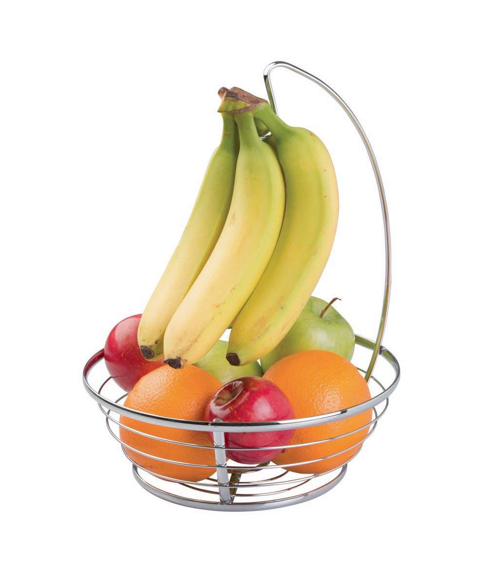 Axis Countertop Steel Fruit Bowl with Banana Hanger