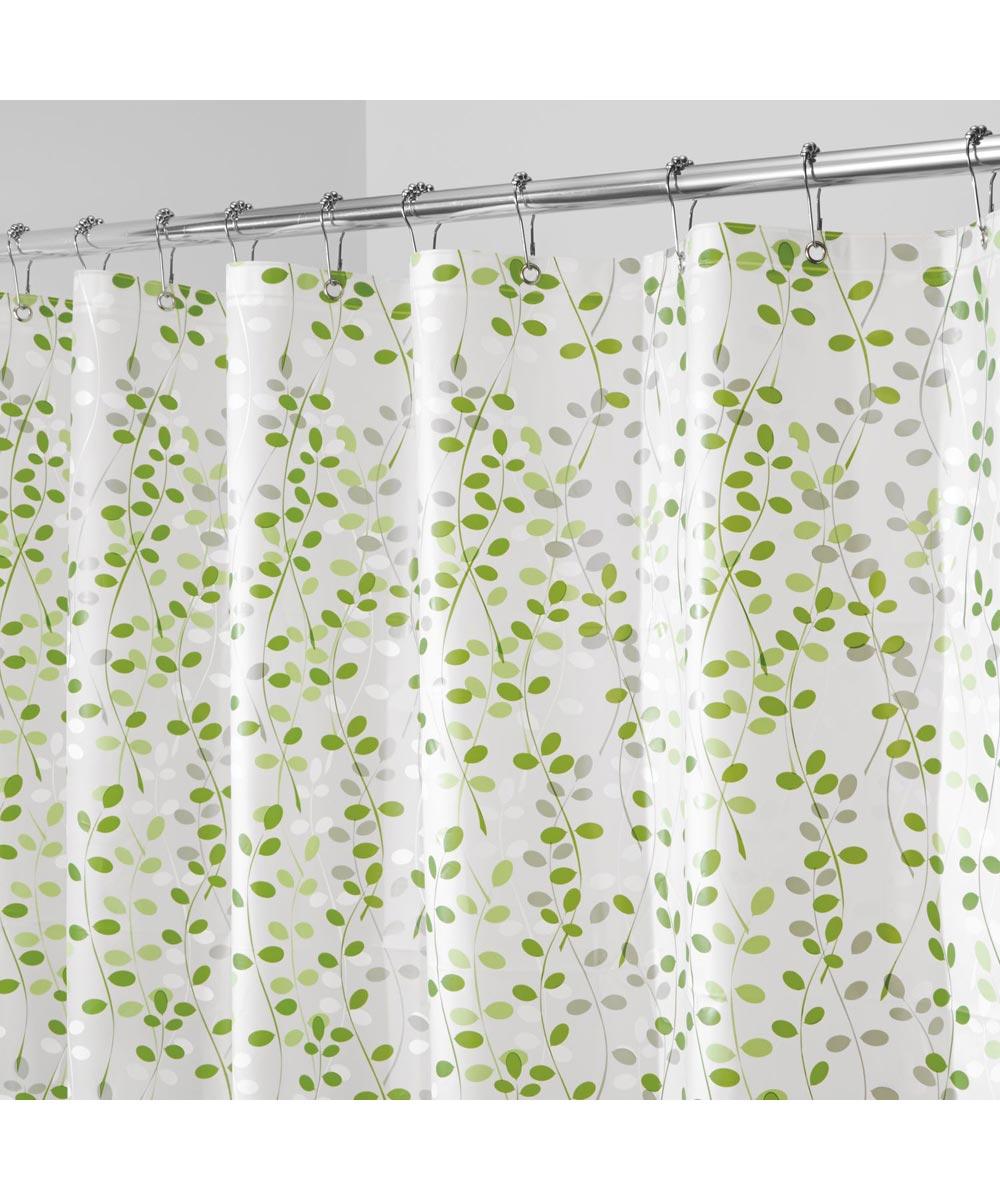 Shower Curtain 72 in. Eva Vines Green/White