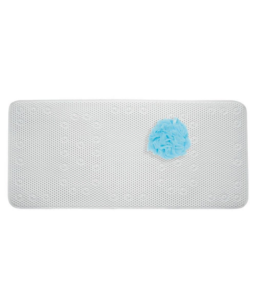 Bathtub Soft Cushion Mat, White, 17x36 Inches
