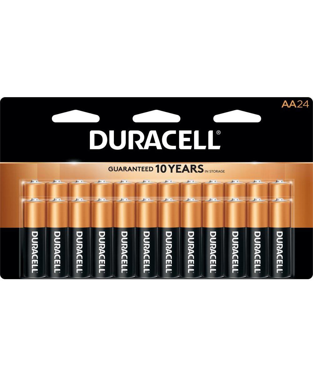 Duracell CopperTop AA Alkaline Battery, 24 Pack