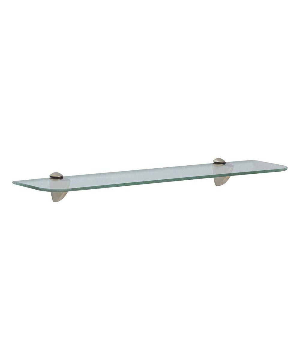 Knape & Vogt 6x24 Inch Glass Rectangle Wall Shelf Kit