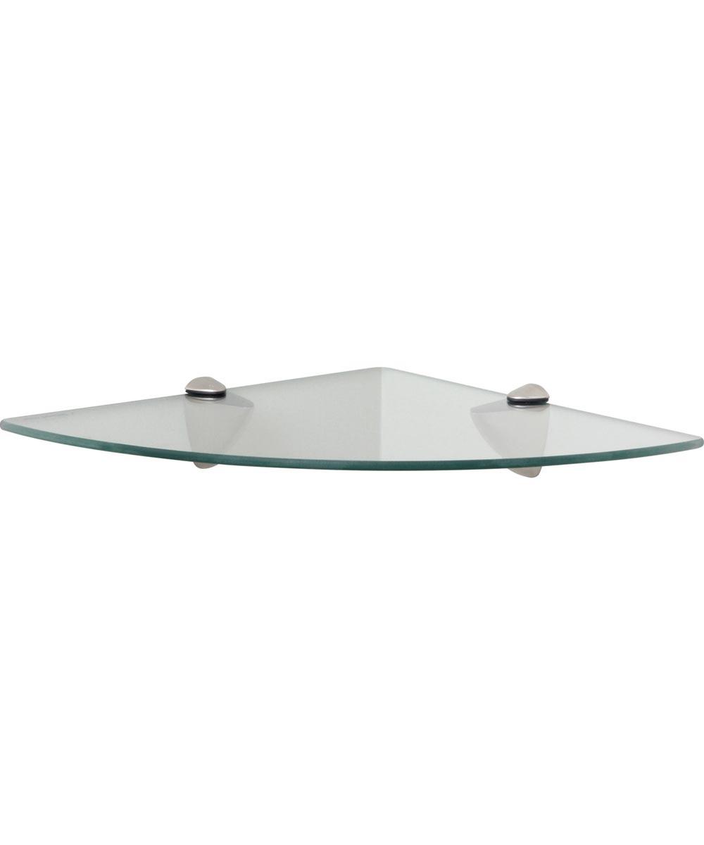 12 x 12 in. Decorative Corner Glass Shelf Kit