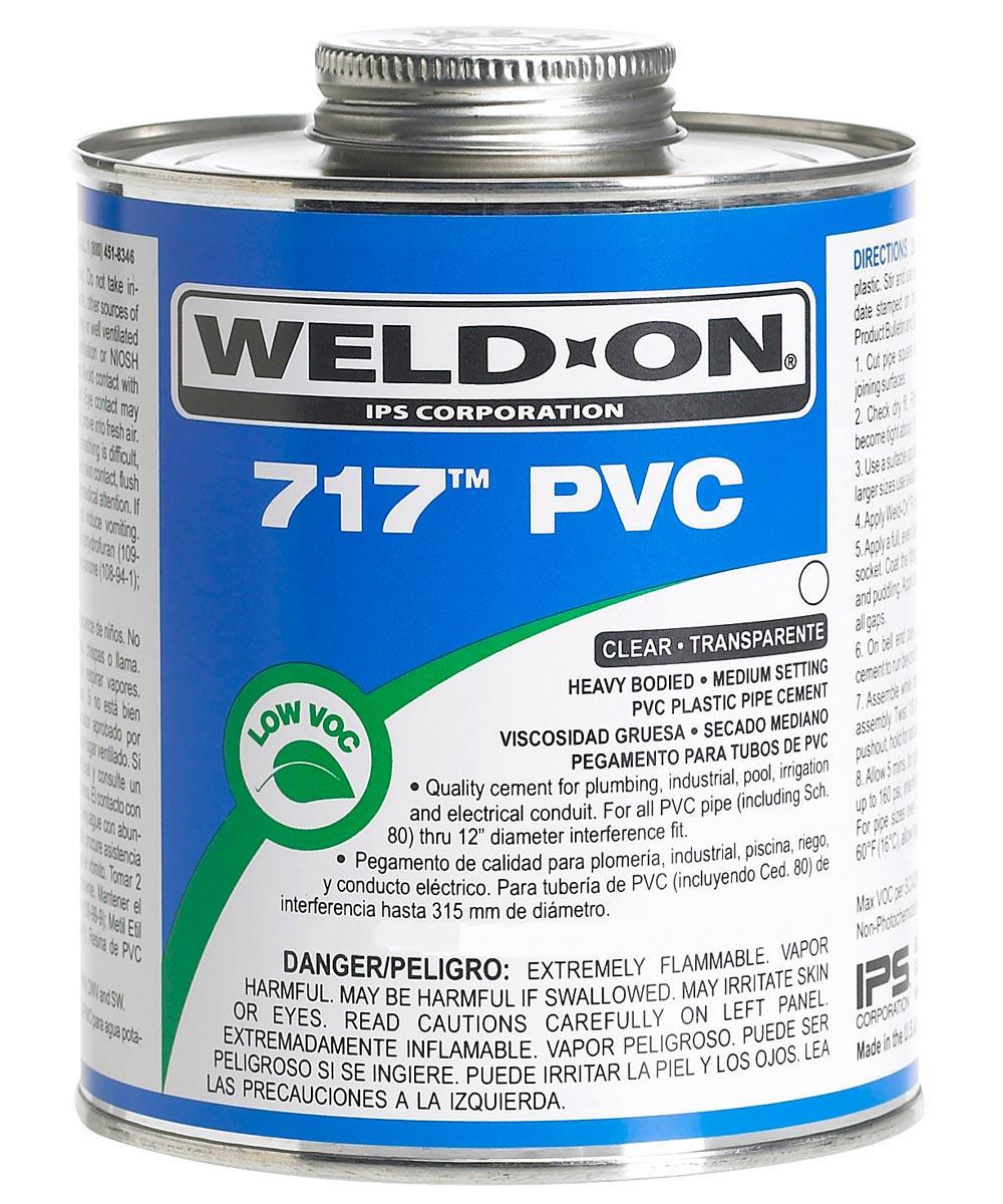 1/2 Pint Clear 717 PVC Cement