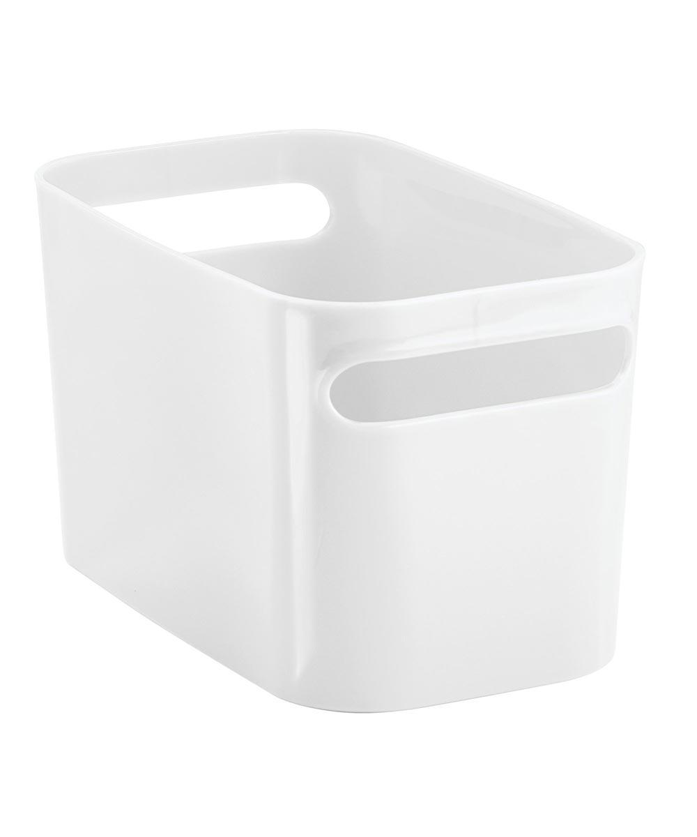 10 in. x 6 in. x 6 in. White Una Bathroom Vanity Organizer Bin