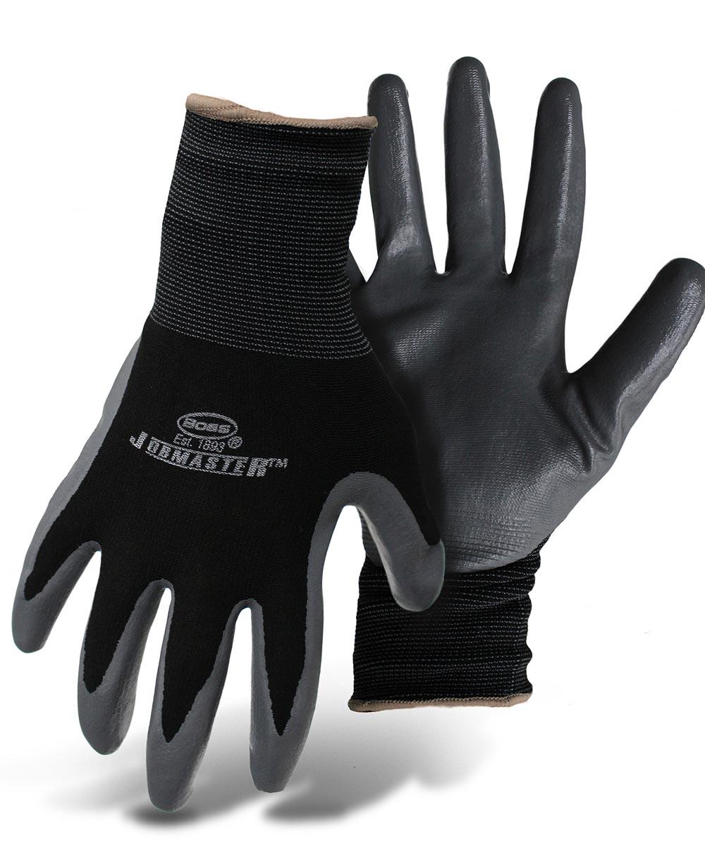 Medium Black & Gray Nylon With Nitrile Coated Palm Gloves