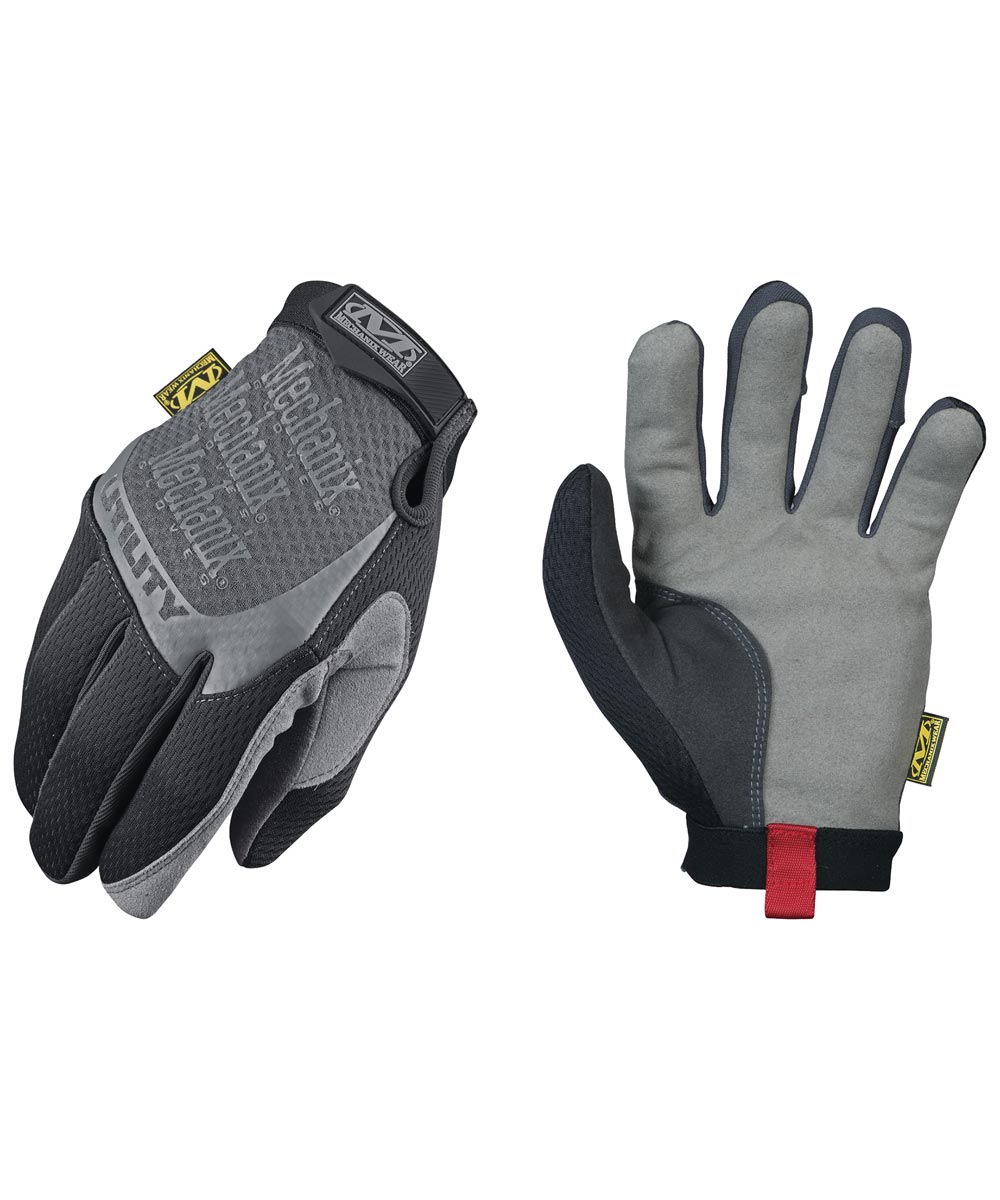 Large Black & Gray Utility All-Purpose Gloves