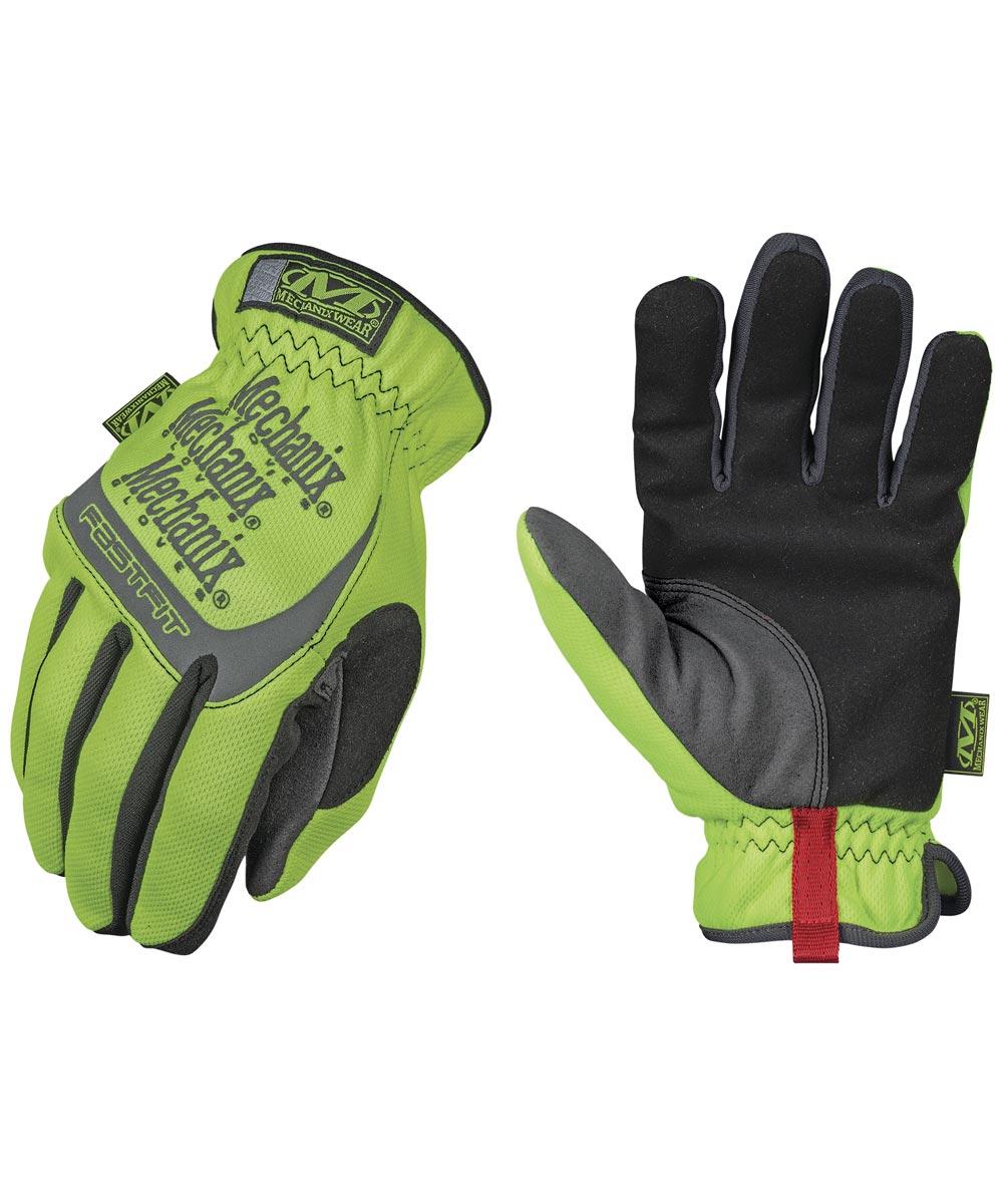 Large Hi-Viz Yellow Safety Fastfit Gloves