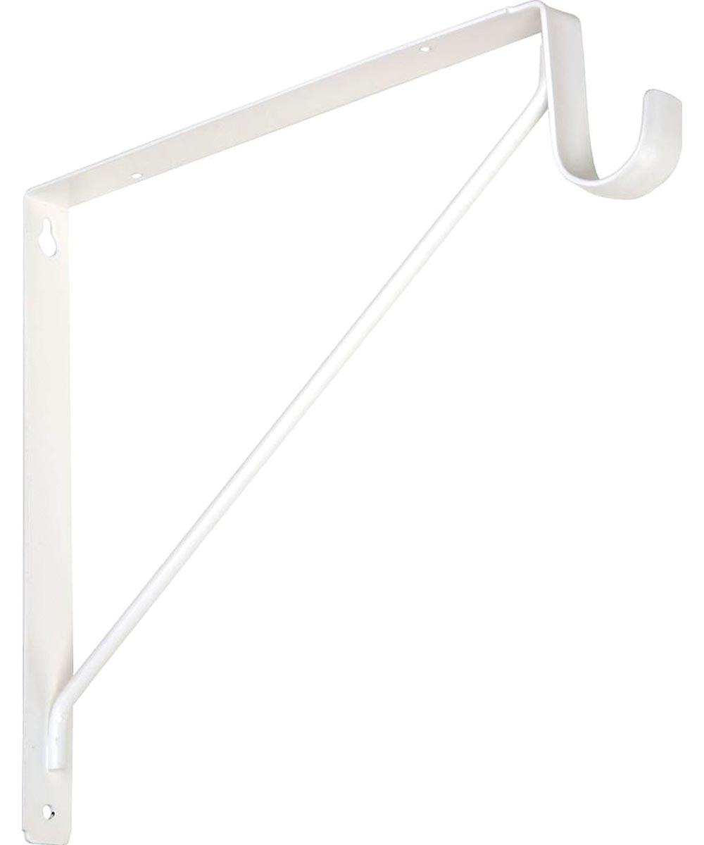 Shelf / Rod Bracket, White