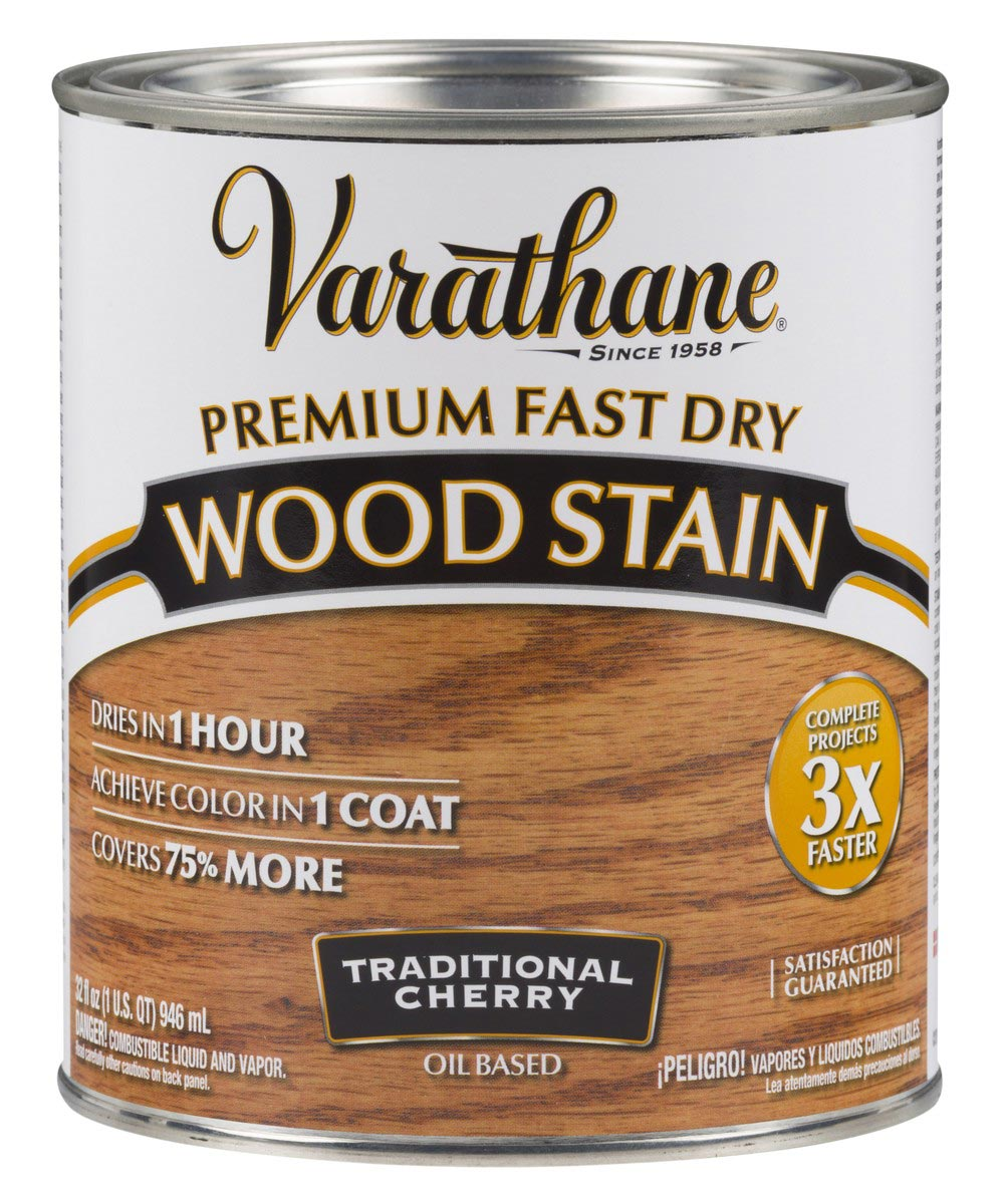 Varathane Fast Dry Wood Stain, Quart, Traditional Cherry
