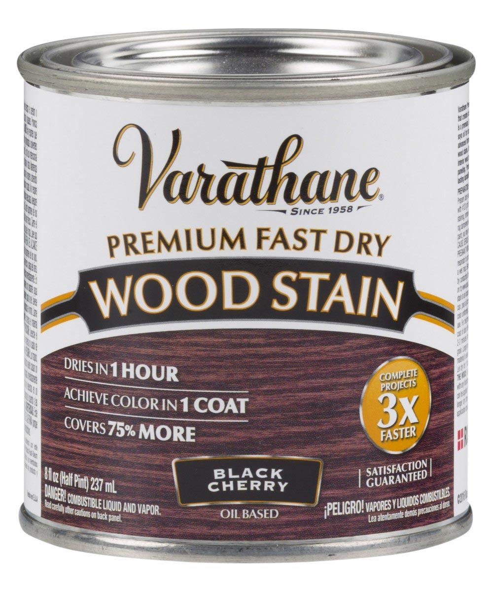 Varathane Fast Dry Wood Stain, Half Pint, Black Cherry