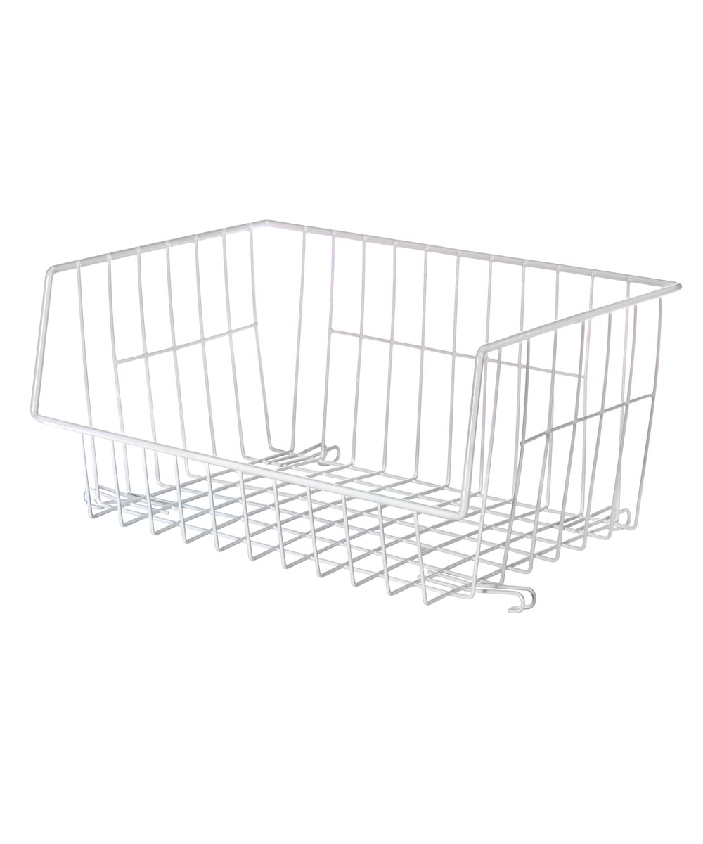 White Wire Stackable Basket