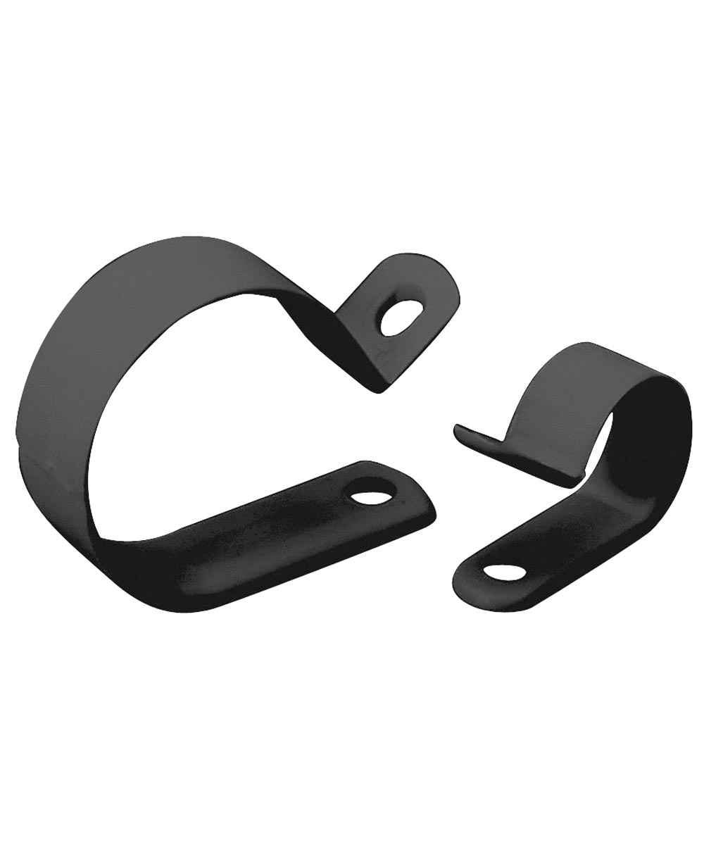 3/8 in. Black Plastic Cable Clamp 15 Count