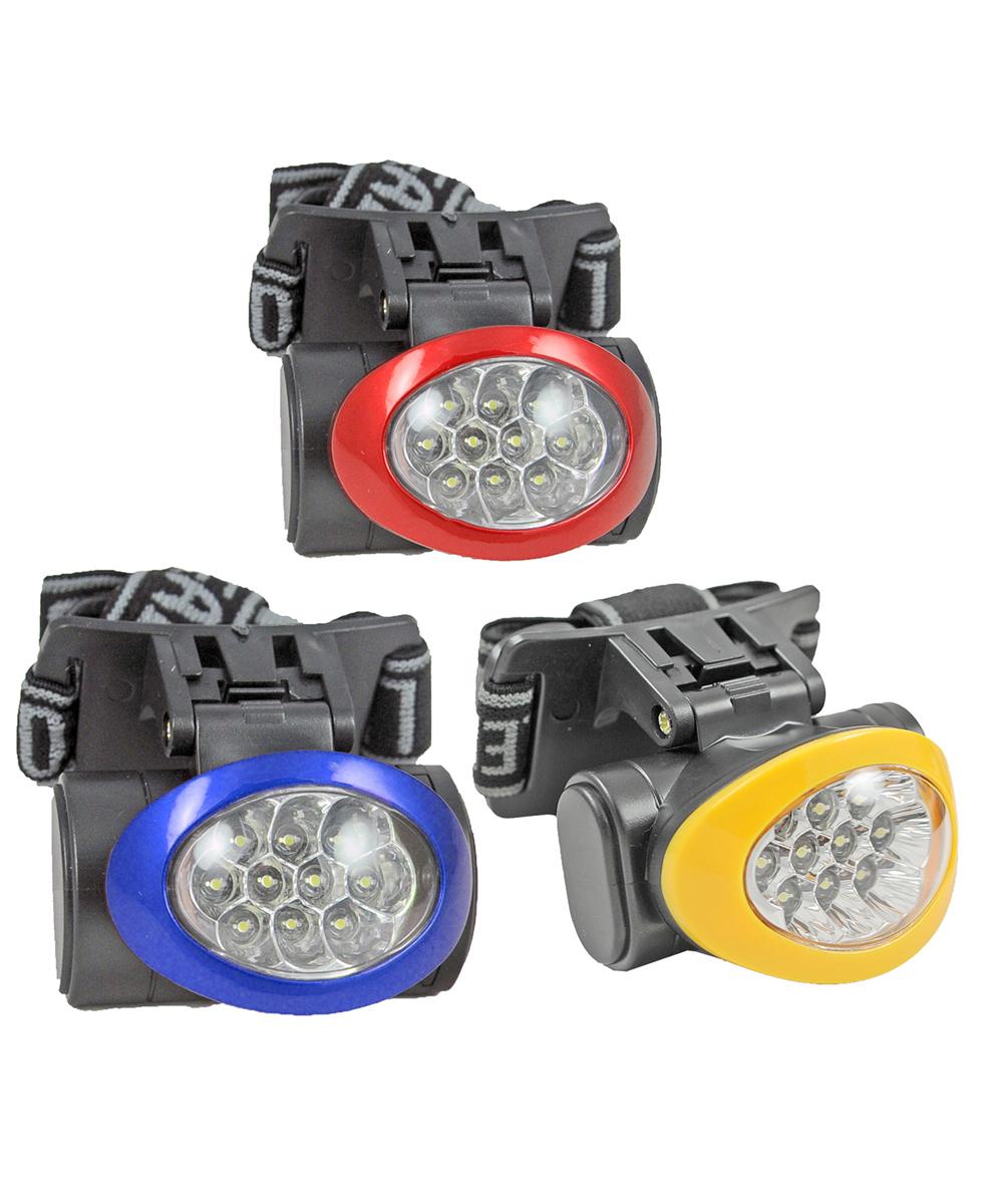 10 LED Headlamp, Assorted Colors