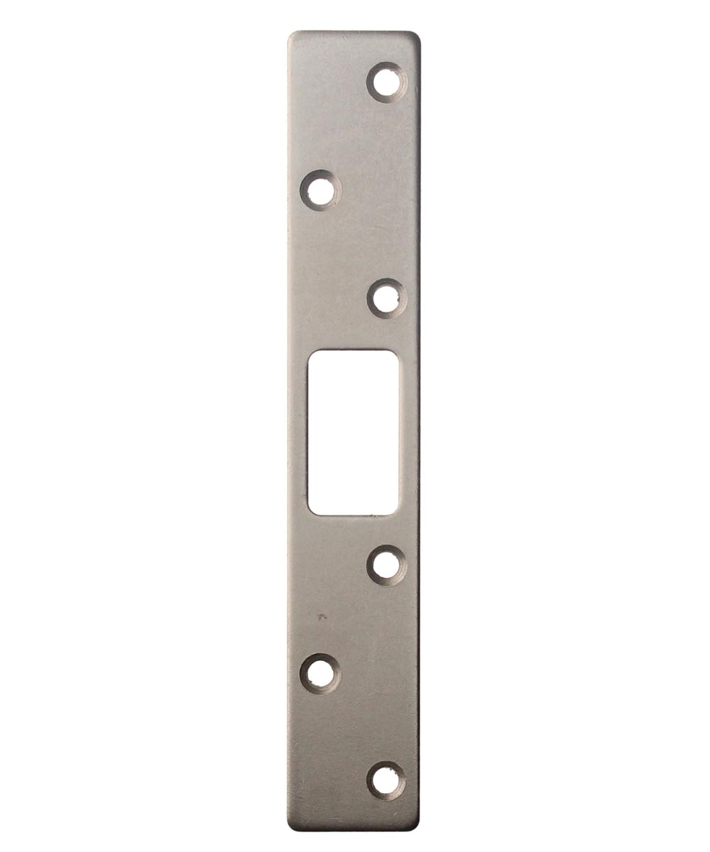 6 in. Satin Nickel Deadbolt Strike Plate