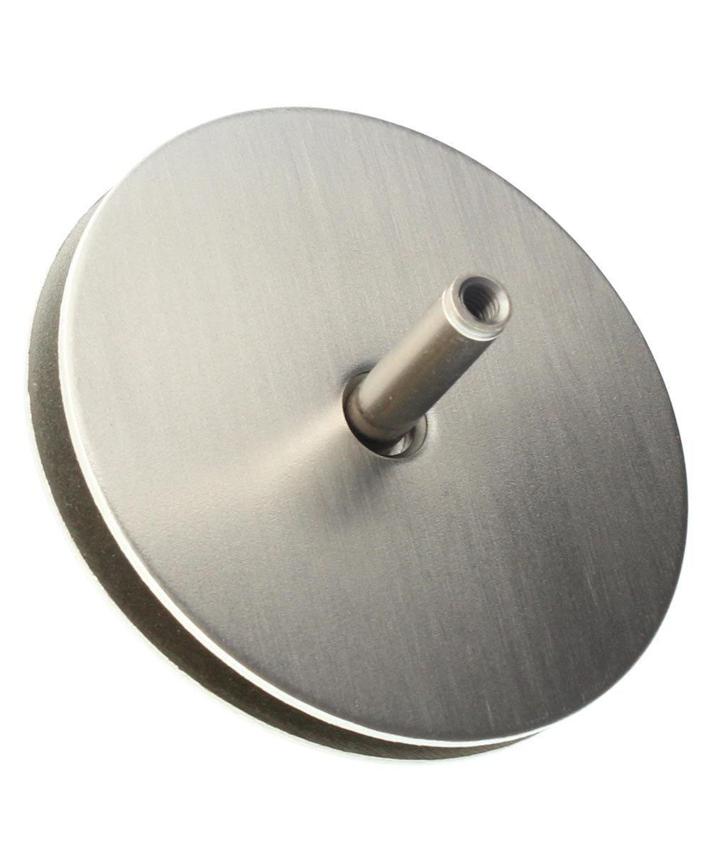 2-1/8 in. Satin Nickel Hole Cover Plate