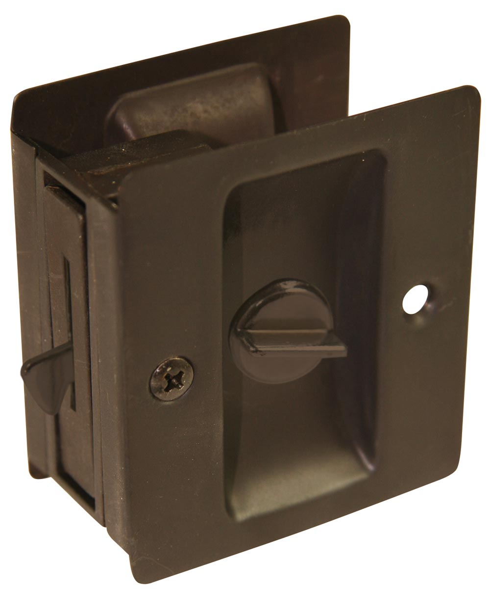 Privacy Pocket Door Lock, Oil Rubbed Bronze