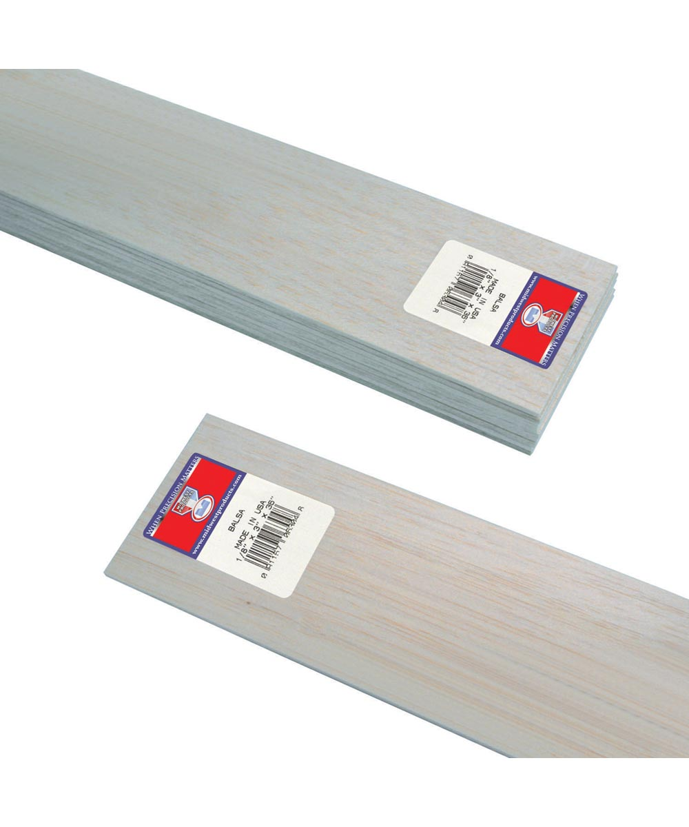 Midwest products 1 NEW Balsa//Bass Wood 1//2 X 1//2 X 36in 4