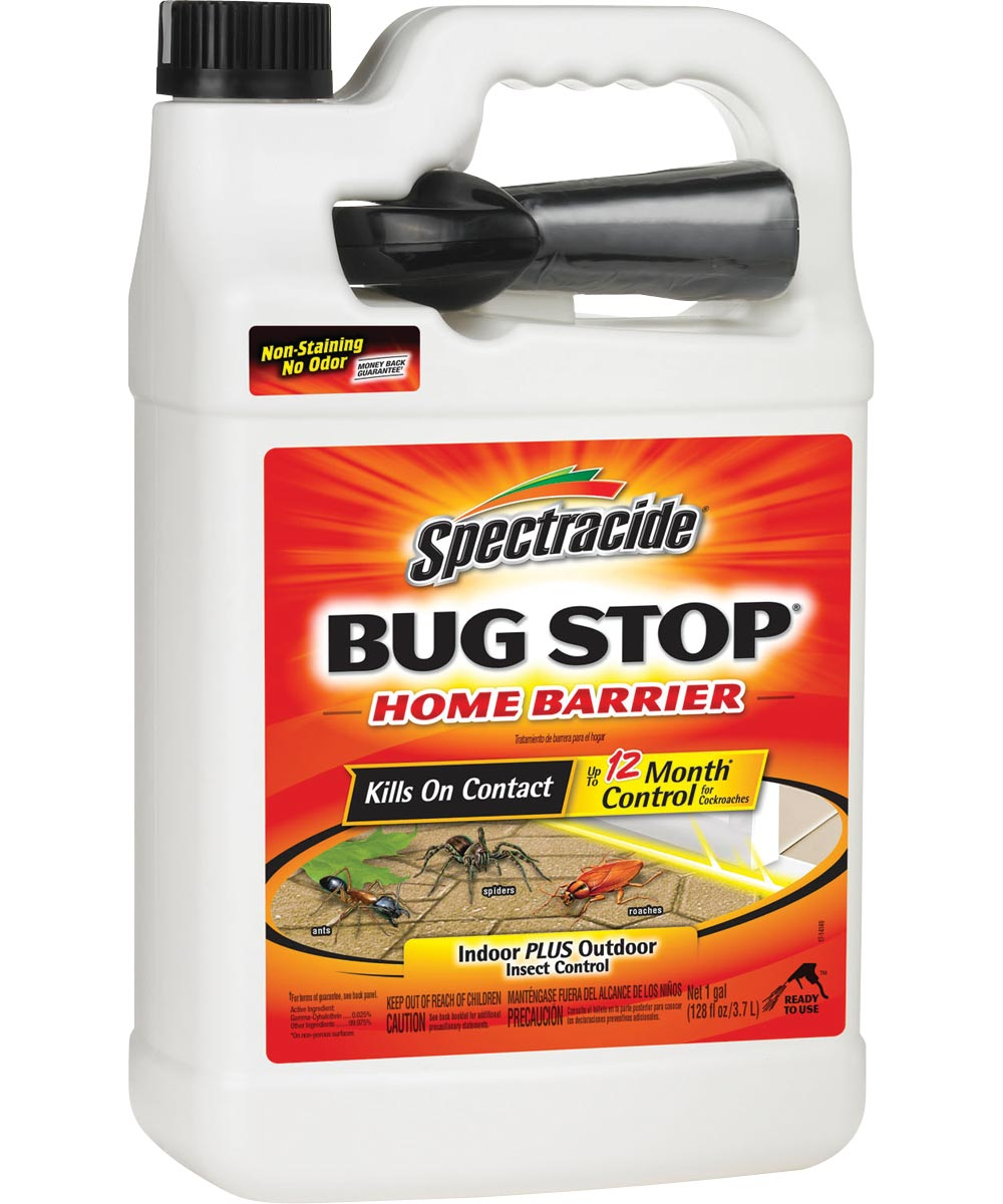 Spectracide Bug Stop Home Barrier Indoor & Outdoor Insect Control, 1 Gallon with Pistol Sprayer Ready-to-Use
