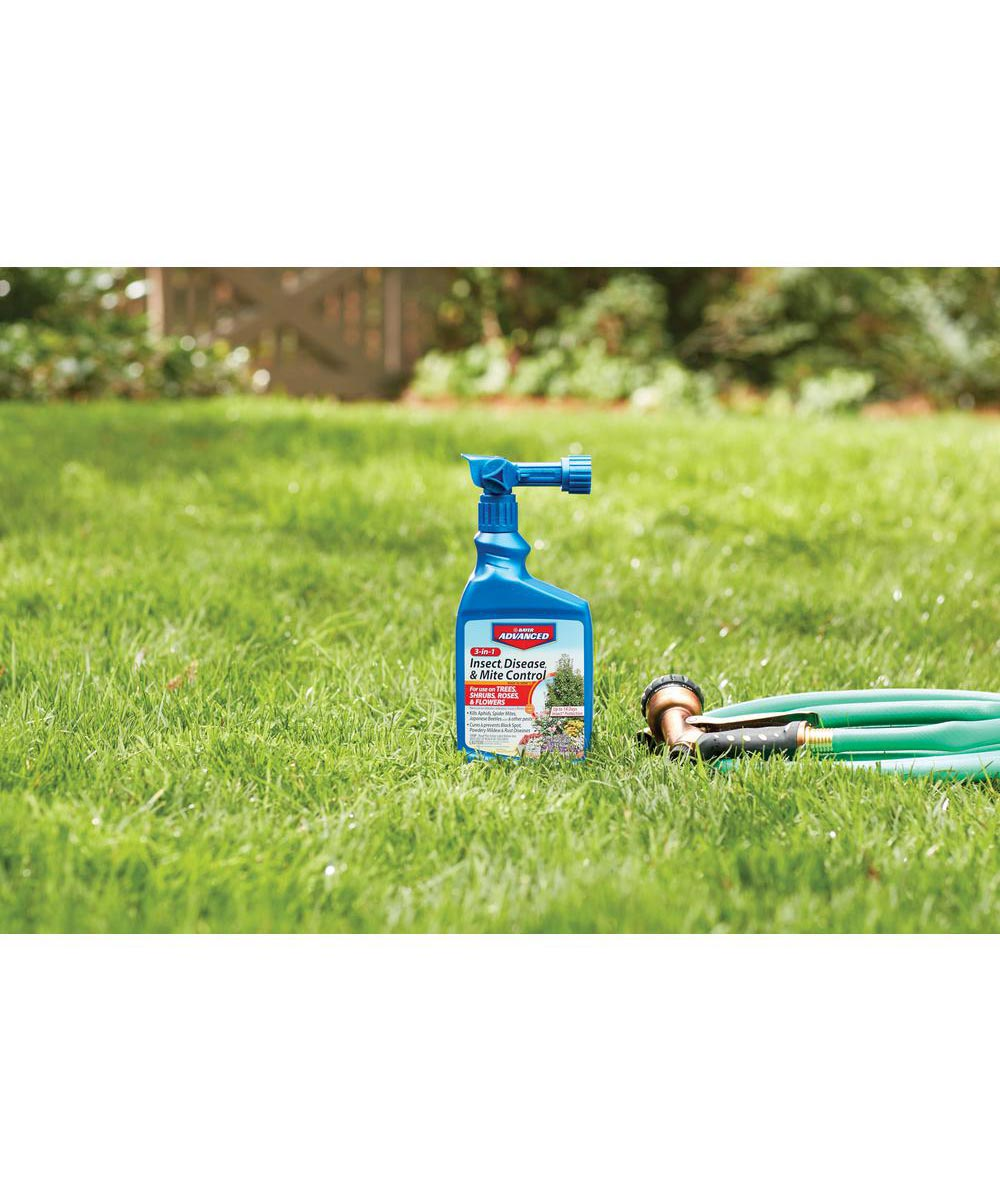 Bayer Advanced 3-in-1 Insect, Disease & Mite Control, 32 oz. with Hose End Sprayer