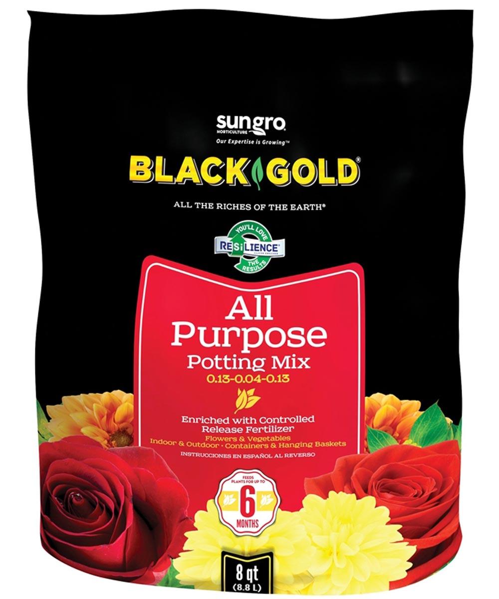 Black Gold 8 Quart All Purpose Potting Soil Mix 0.13-0.04-0.13